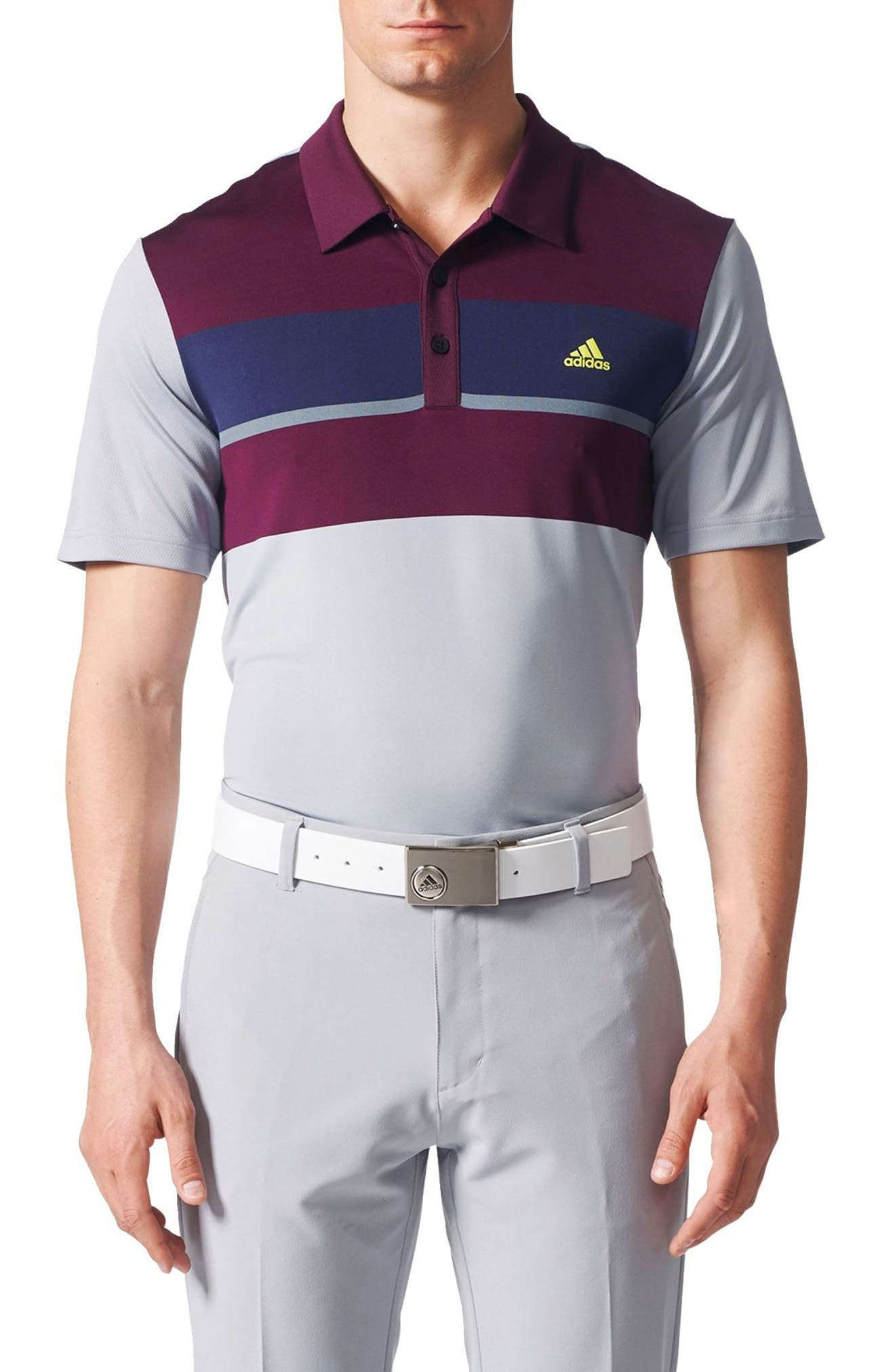 Climacool<sup>®</sup> Colorblocked Polo,                         Main,                         color, Black