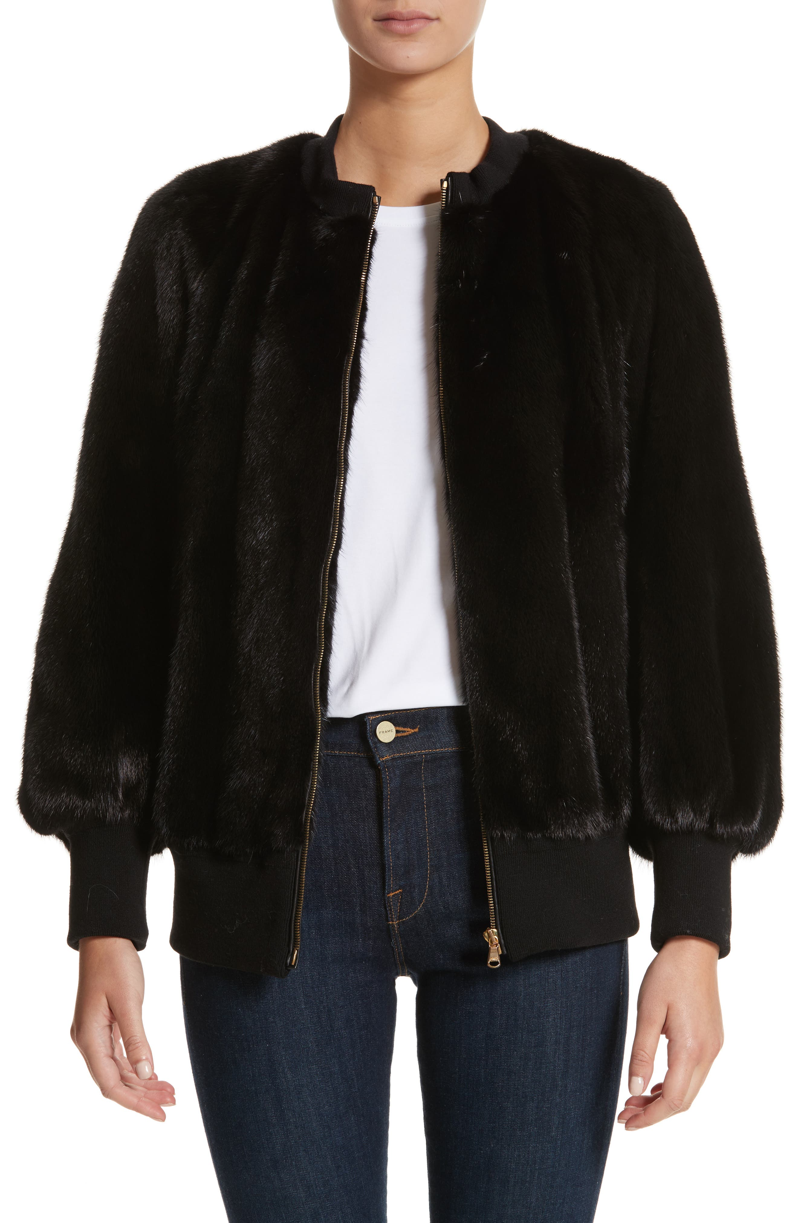 Burberry Haylesham Genuine Mink Fur Jacket