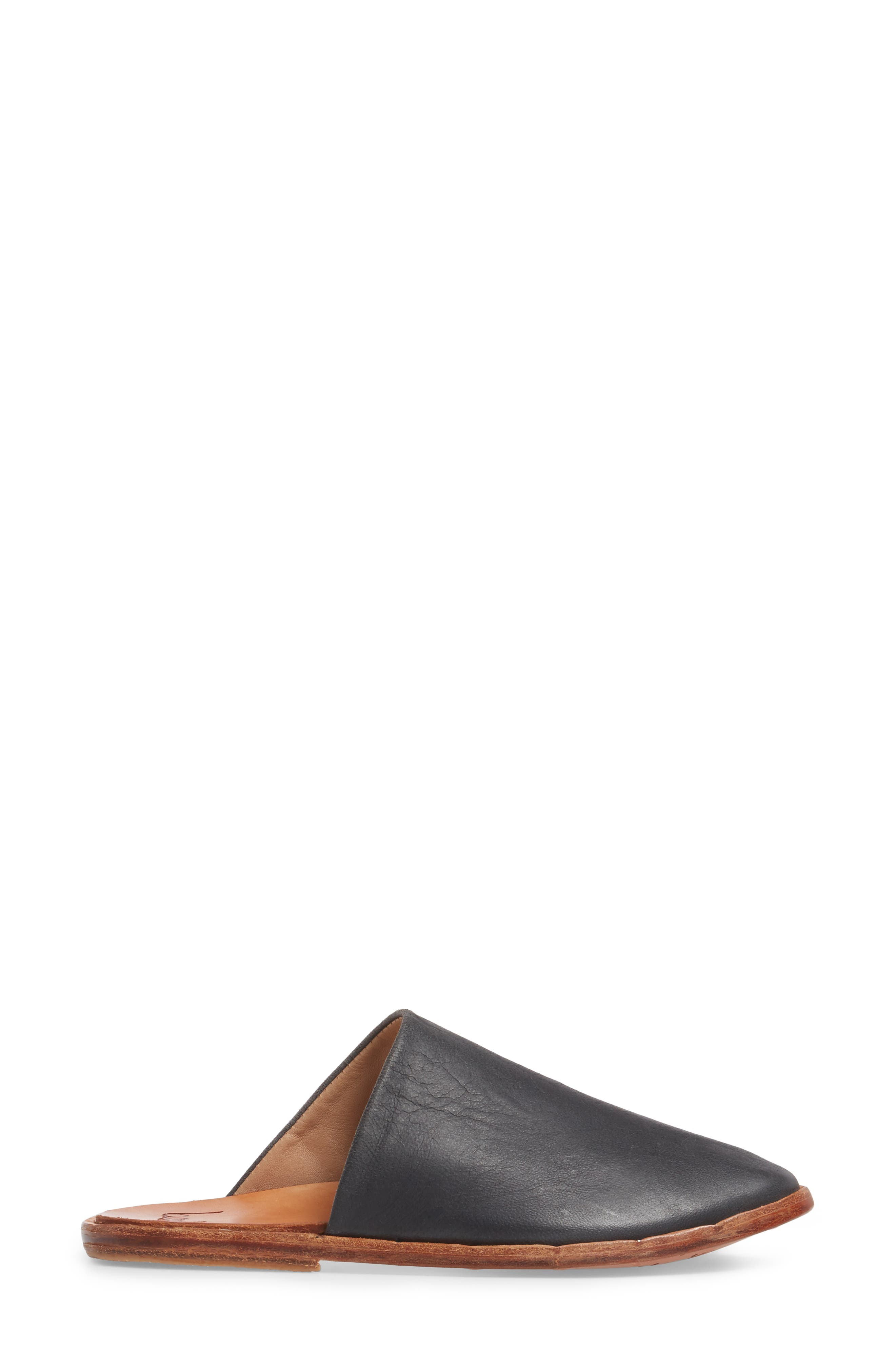 Seagull Mule,                             Alternate thumbnail 3, color,                             Vintage Black Leather