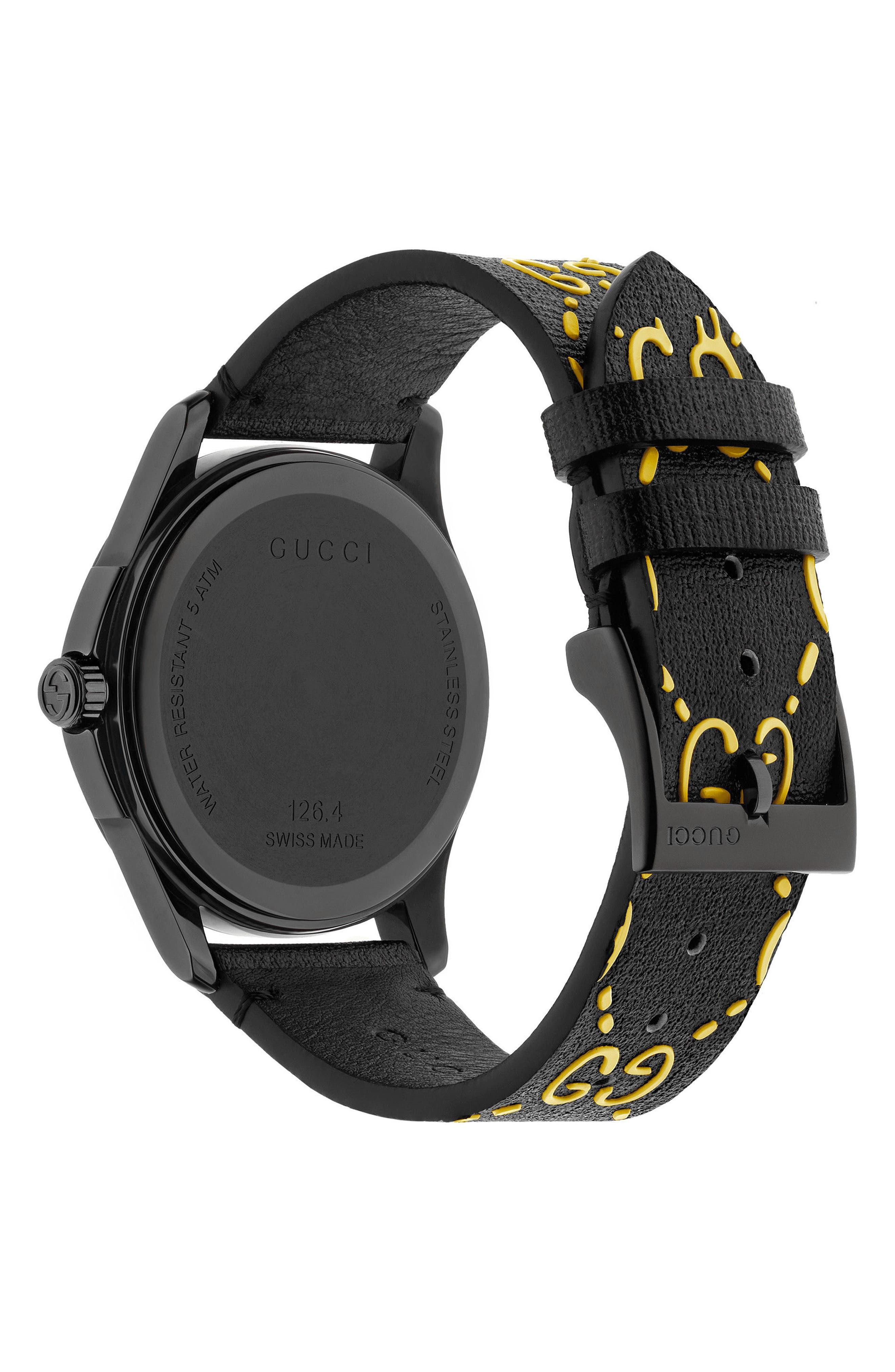 Alternate Image 2  - Gucci GG Rubber Strap Watch, 38mm