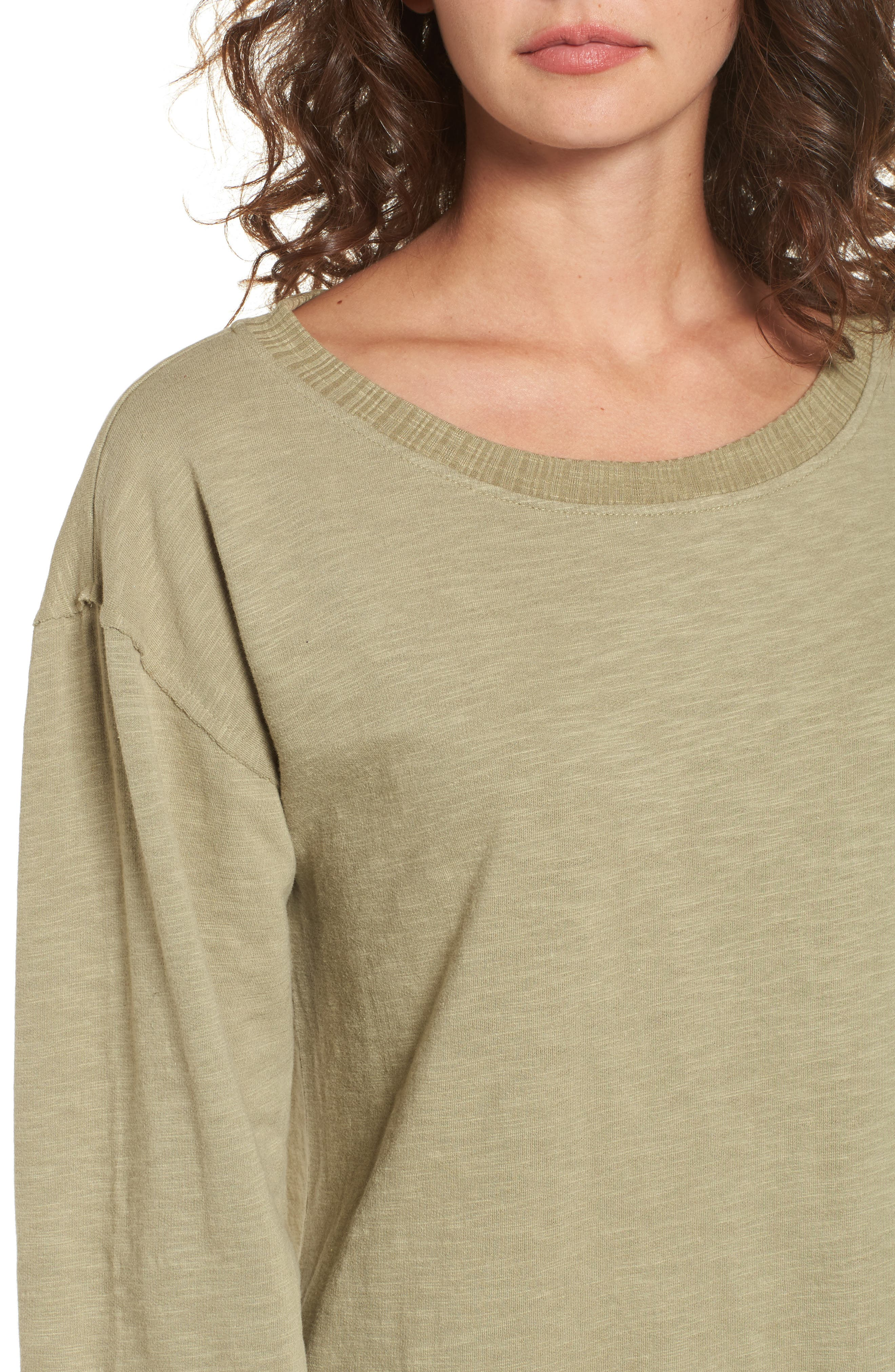Mountains Fade Sweatshirt Dress,                             Alternate thumbnail 5, color,                             Sage