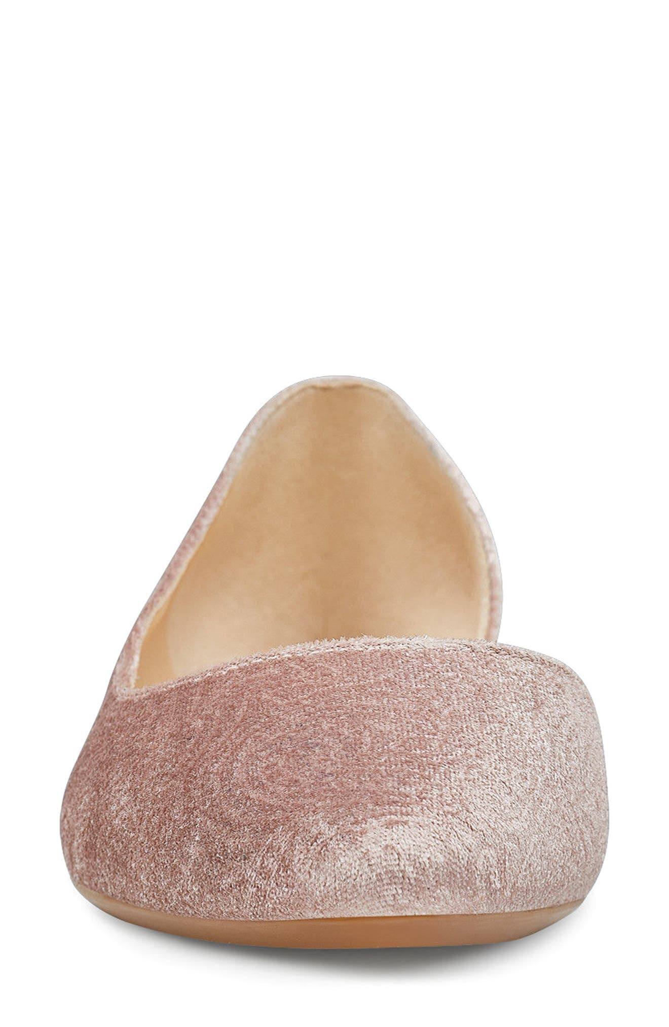 Spruce d'Orsay Flat,                             Alternate thumbnail 4, color,                             Natural Fabric