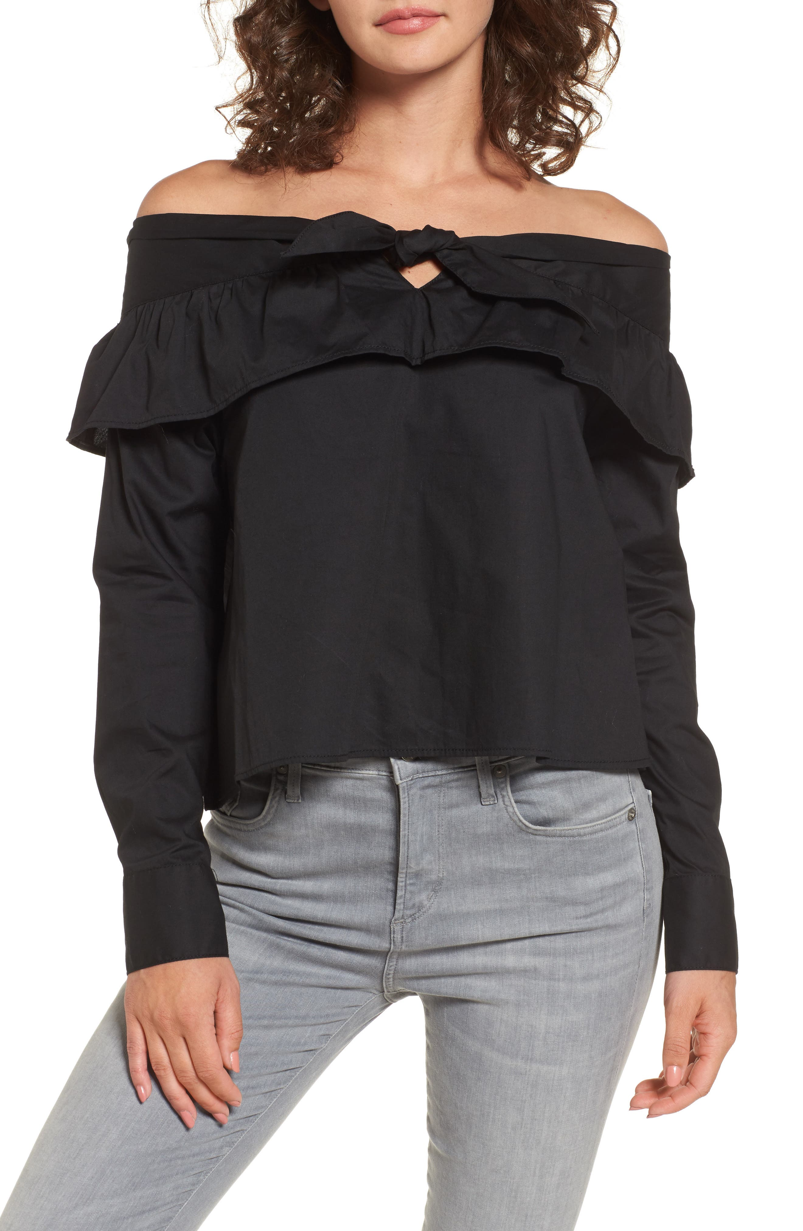 The Fifth Label Paper Planes Off the Shoulder Top