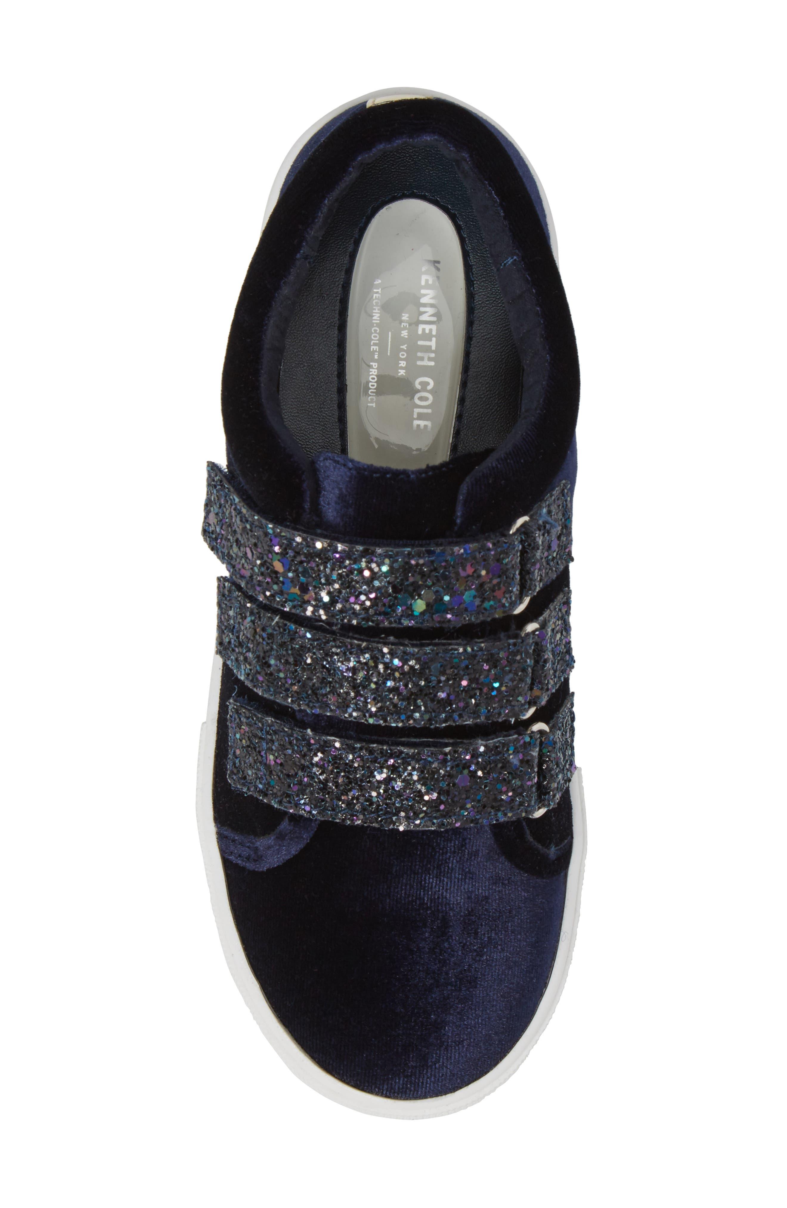 Alternate Image 5  - Kenneth Cole New York Kam Glitter Strap Sneaker (Toddler, Little Kid & Big Kid)