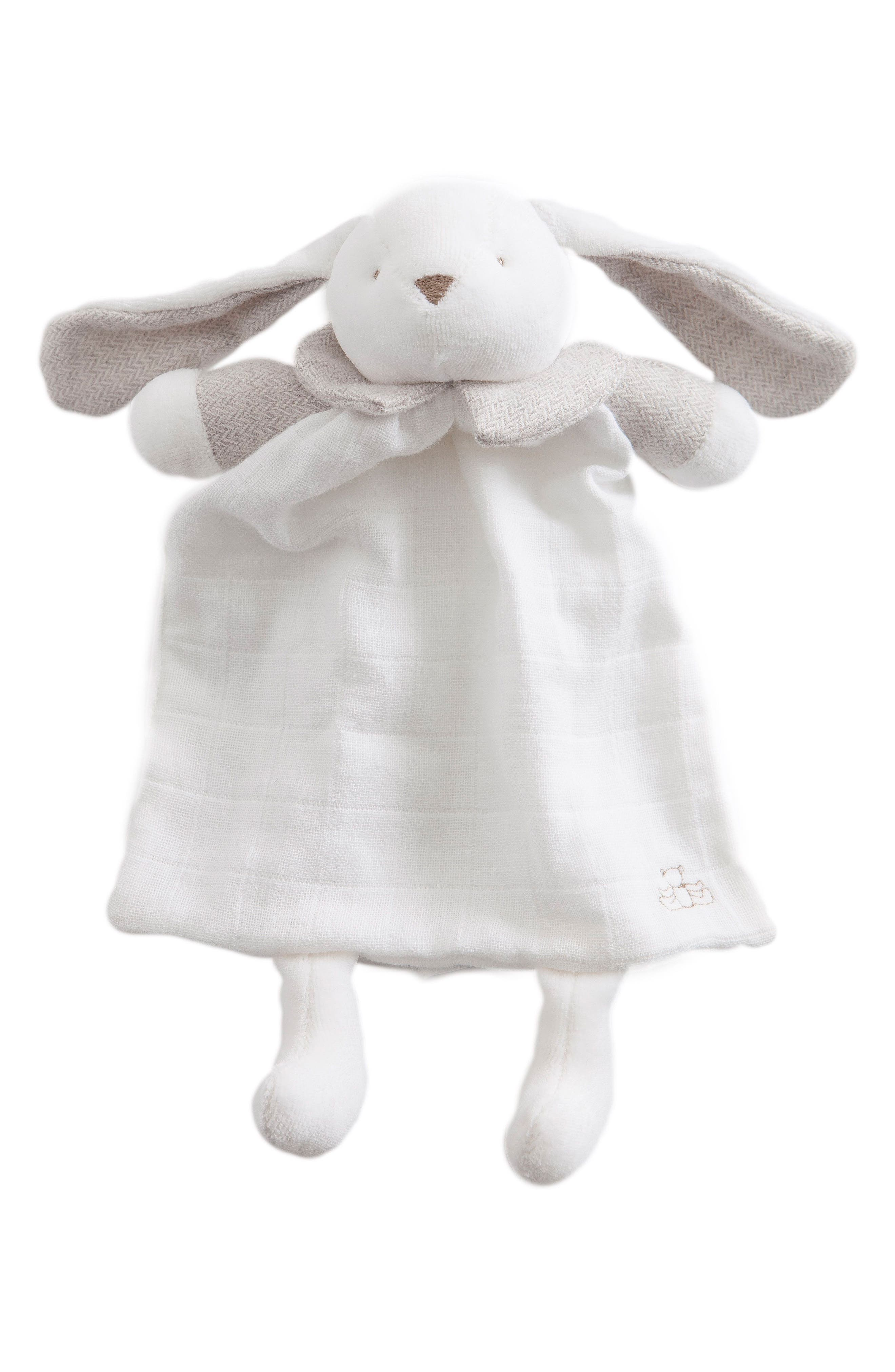 Rabbit Lovey Toy,                         Main,                         color, Grey