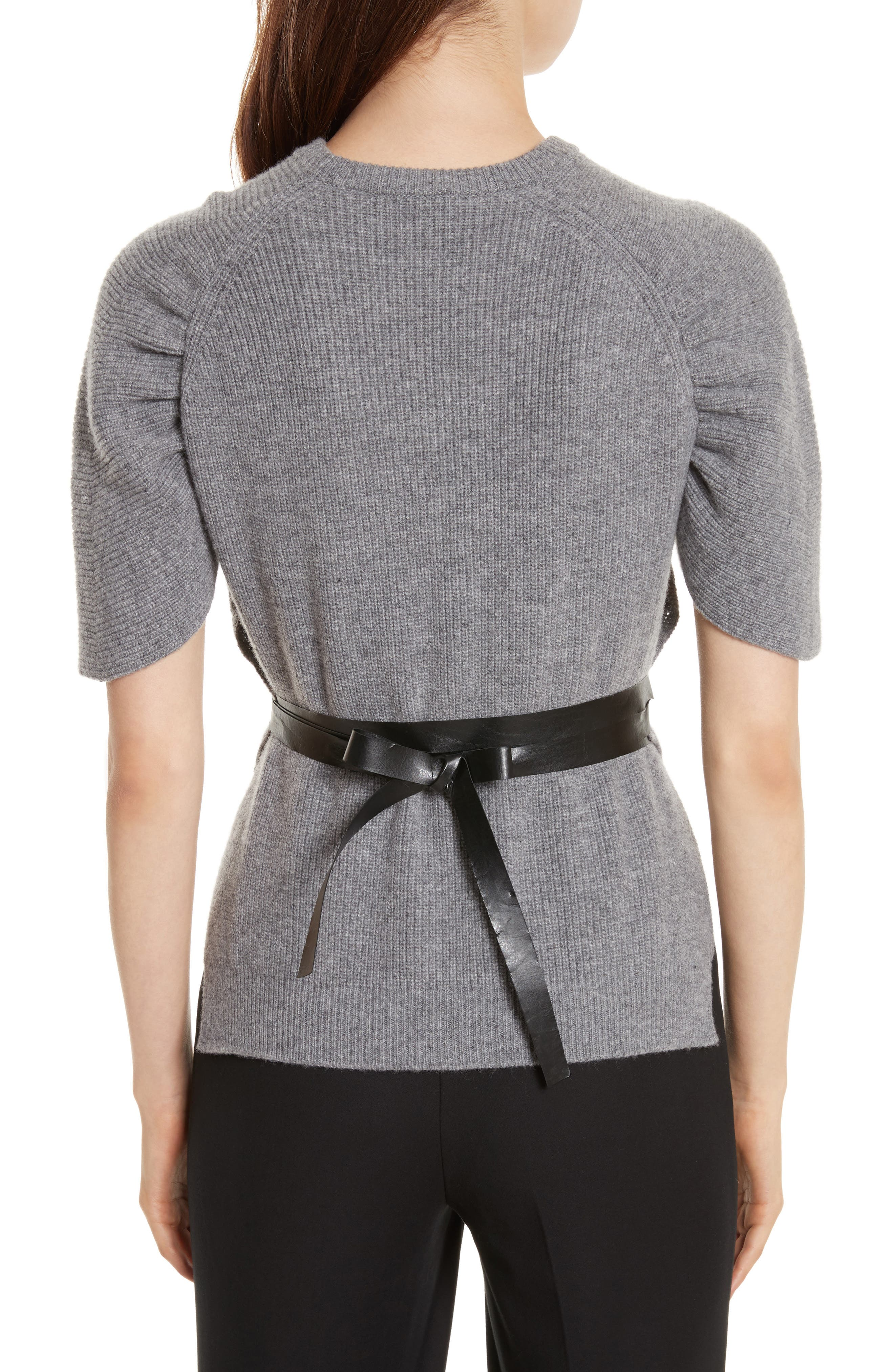 Alternate Image 2  - RED Valentino Belted Carded Wool Sweater