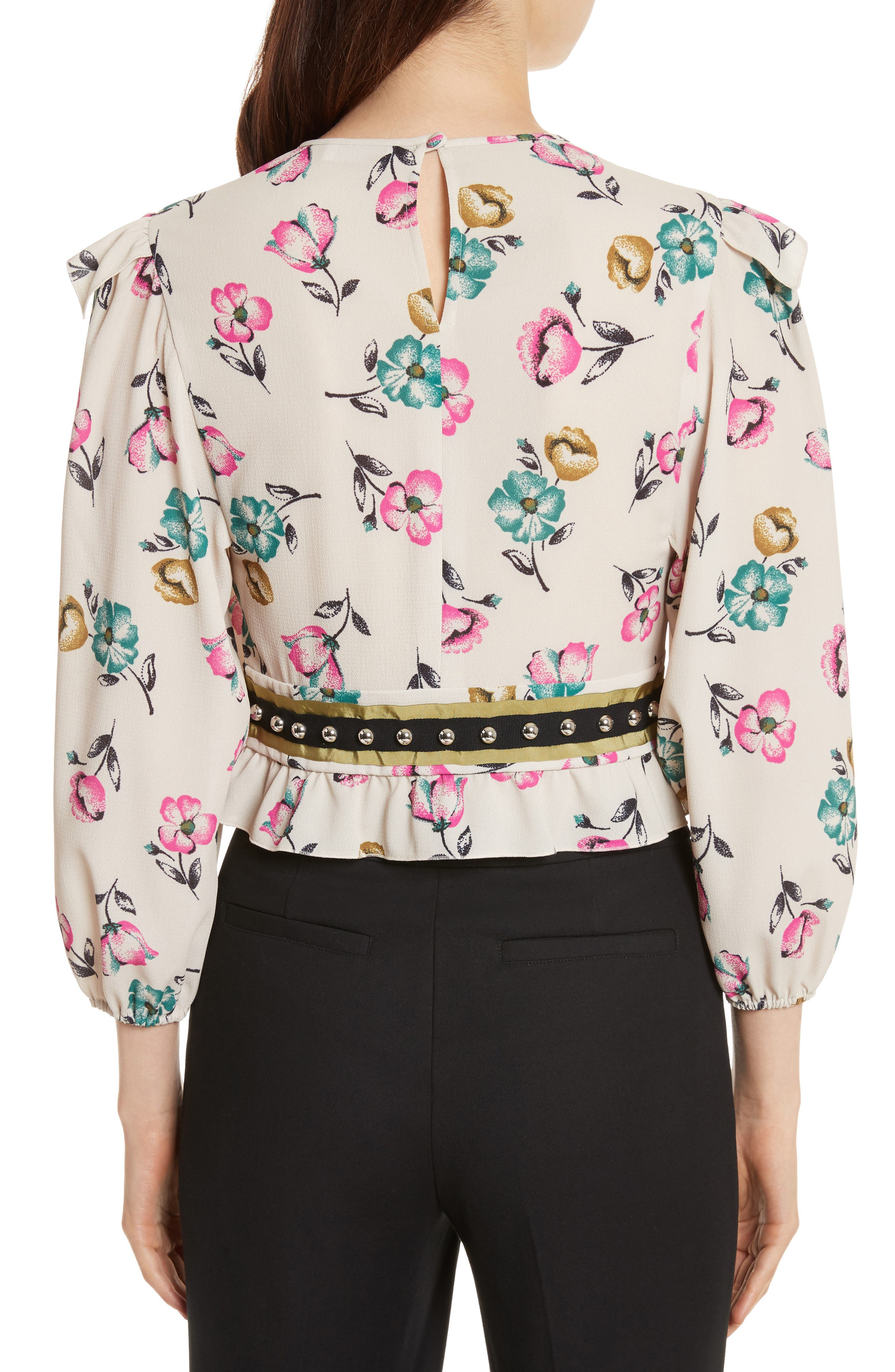 Alternate Image 2  - RED Valentino Anemone Floral Print Blouse