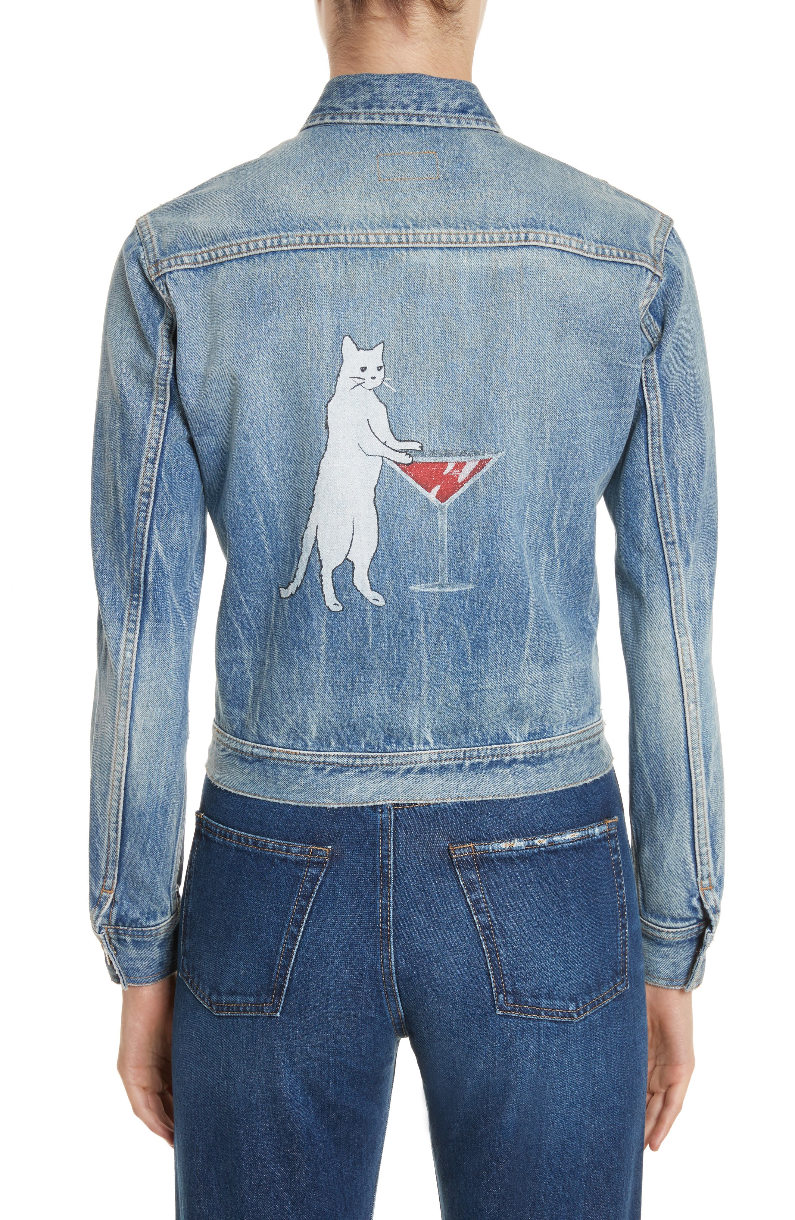 Saint Laurent Party Kitty Denim Jacket