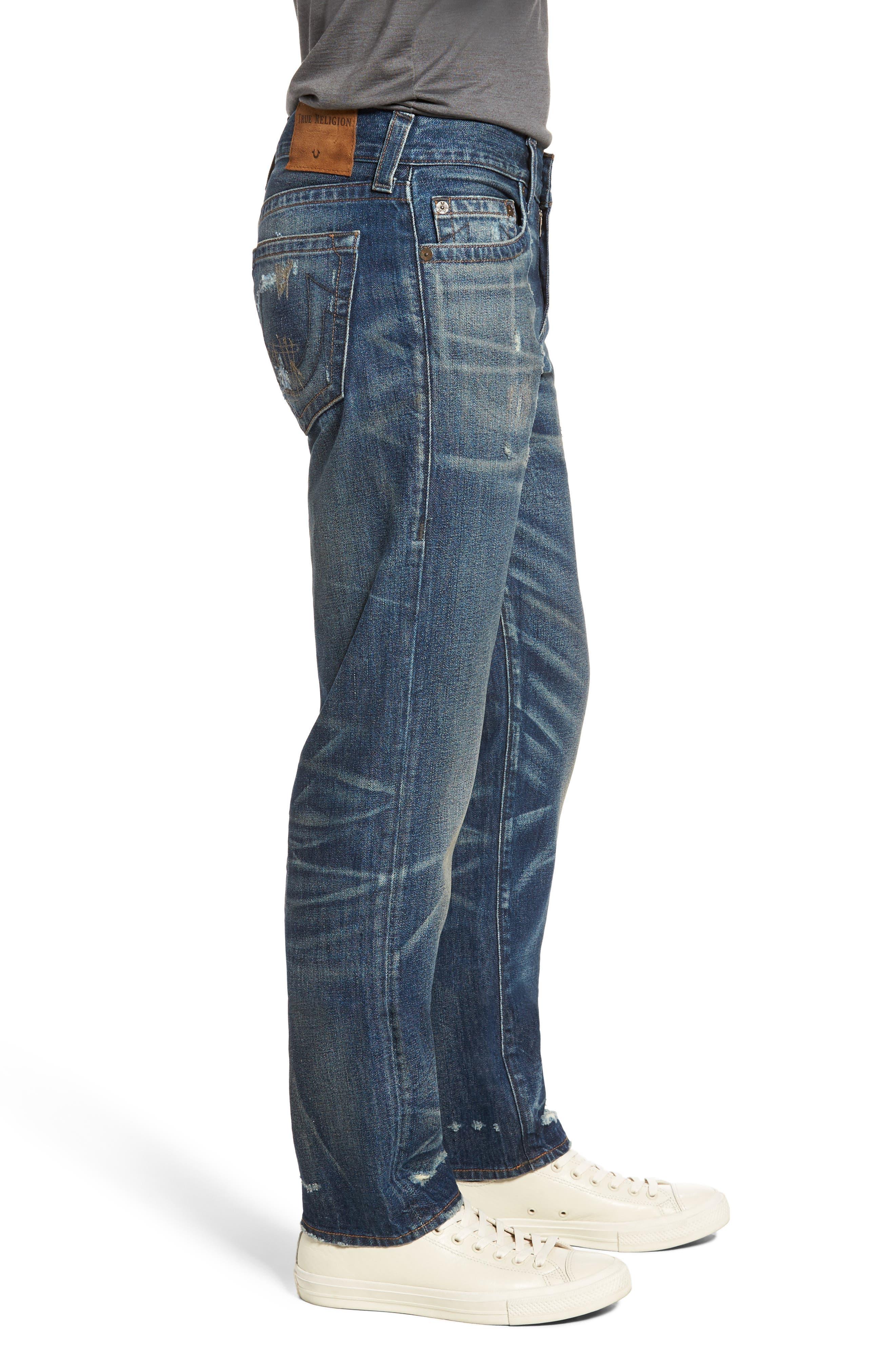 Geno Straight Leg Jeans,                             Alternate thumbnail 3, color,                             Street Dweller