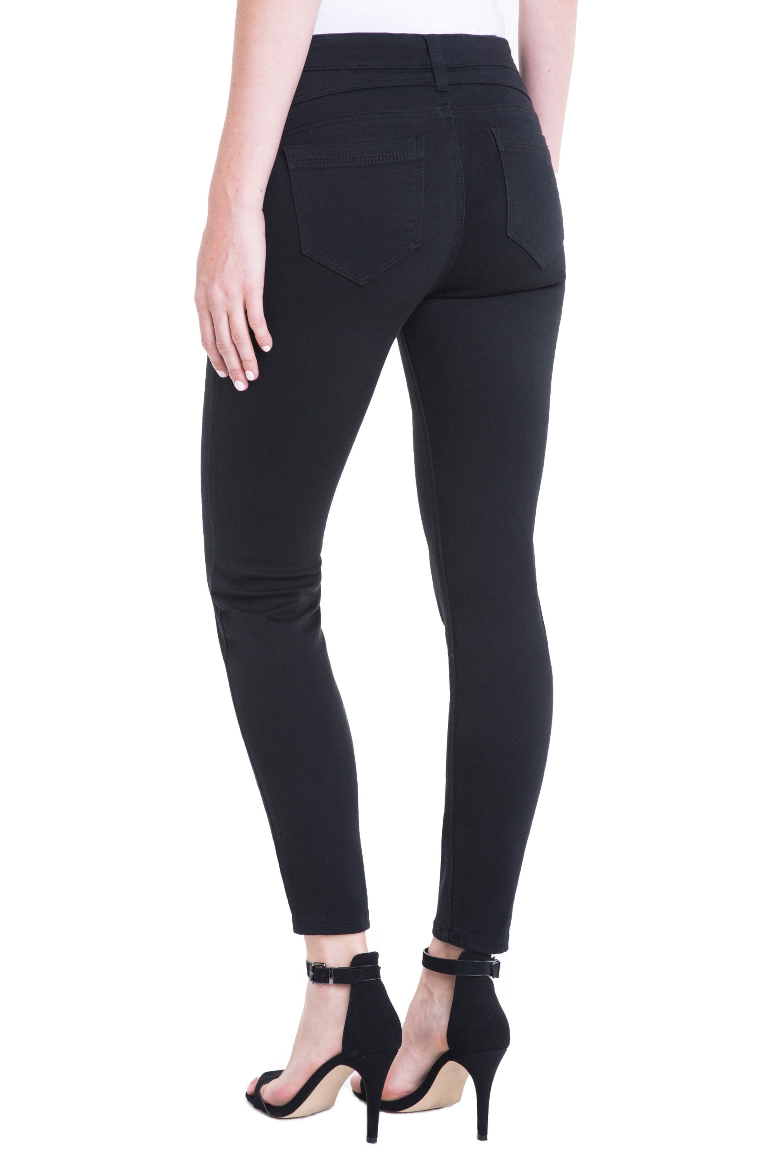 Remy Zipper Stretch Skinny Jeans,                             Alternate thumbnail 3, color,                             Black Rinse