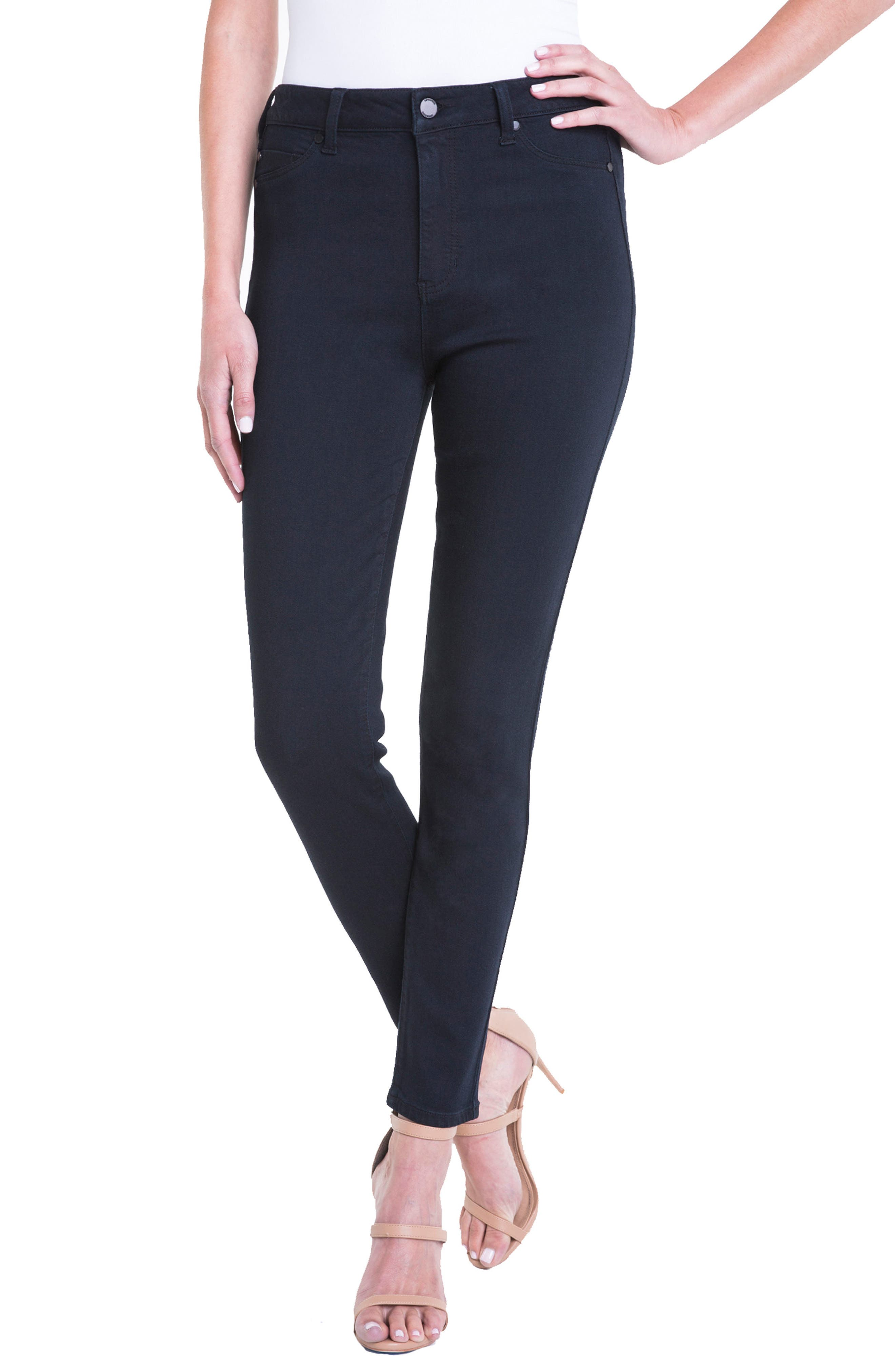 Jeans Company Bridget High Waist Skinny Jeans,                         Main,                         color, Indigo Over Dye Black