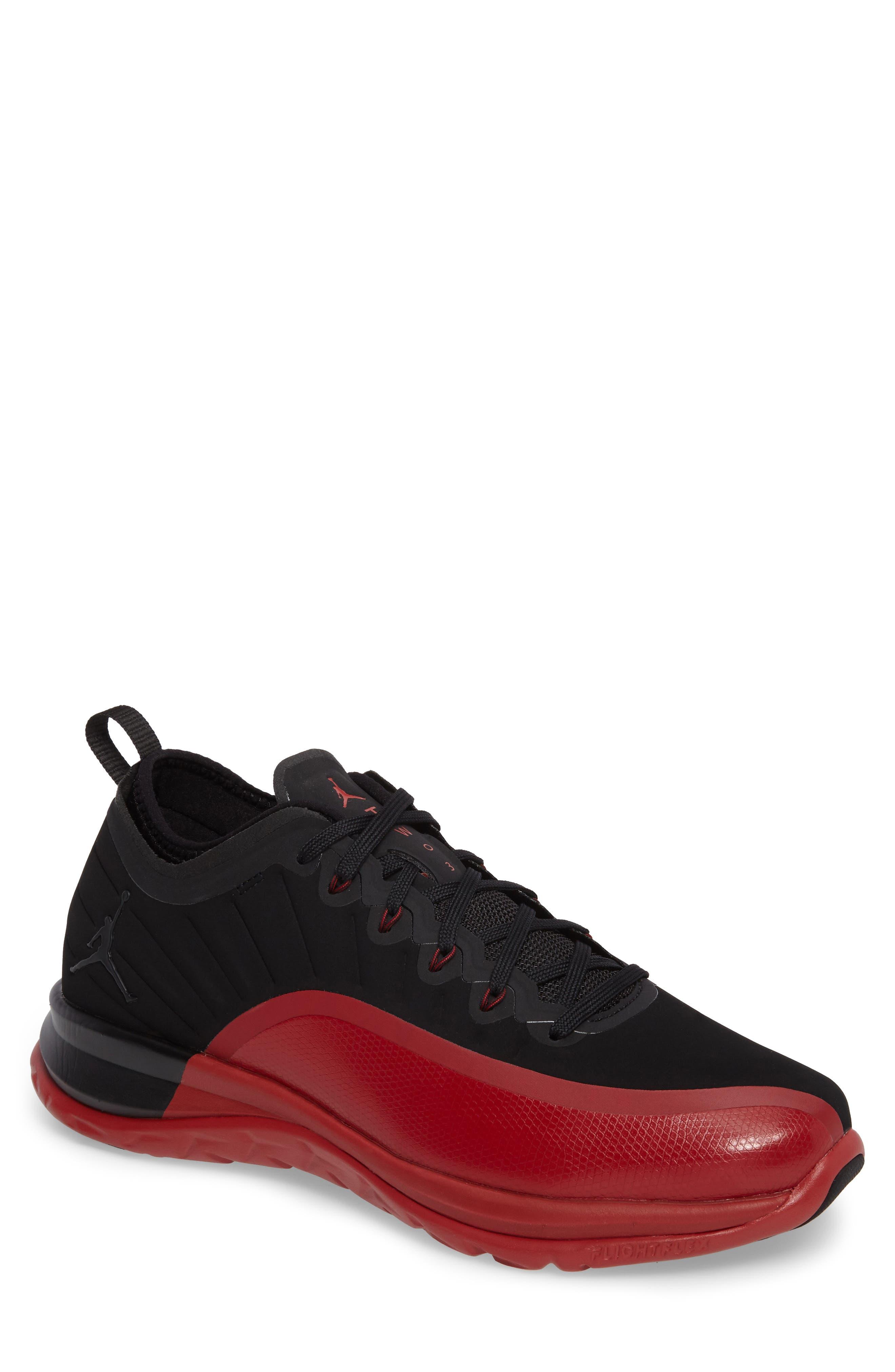 Jordan Trainer Prime Sneaker,                         Main,                         color, Black/ Black/ Gym Red