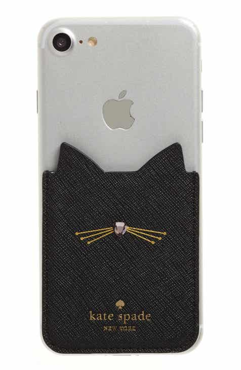 Kate Spade New York Cat IPhone 7 8 Sticker Pocket