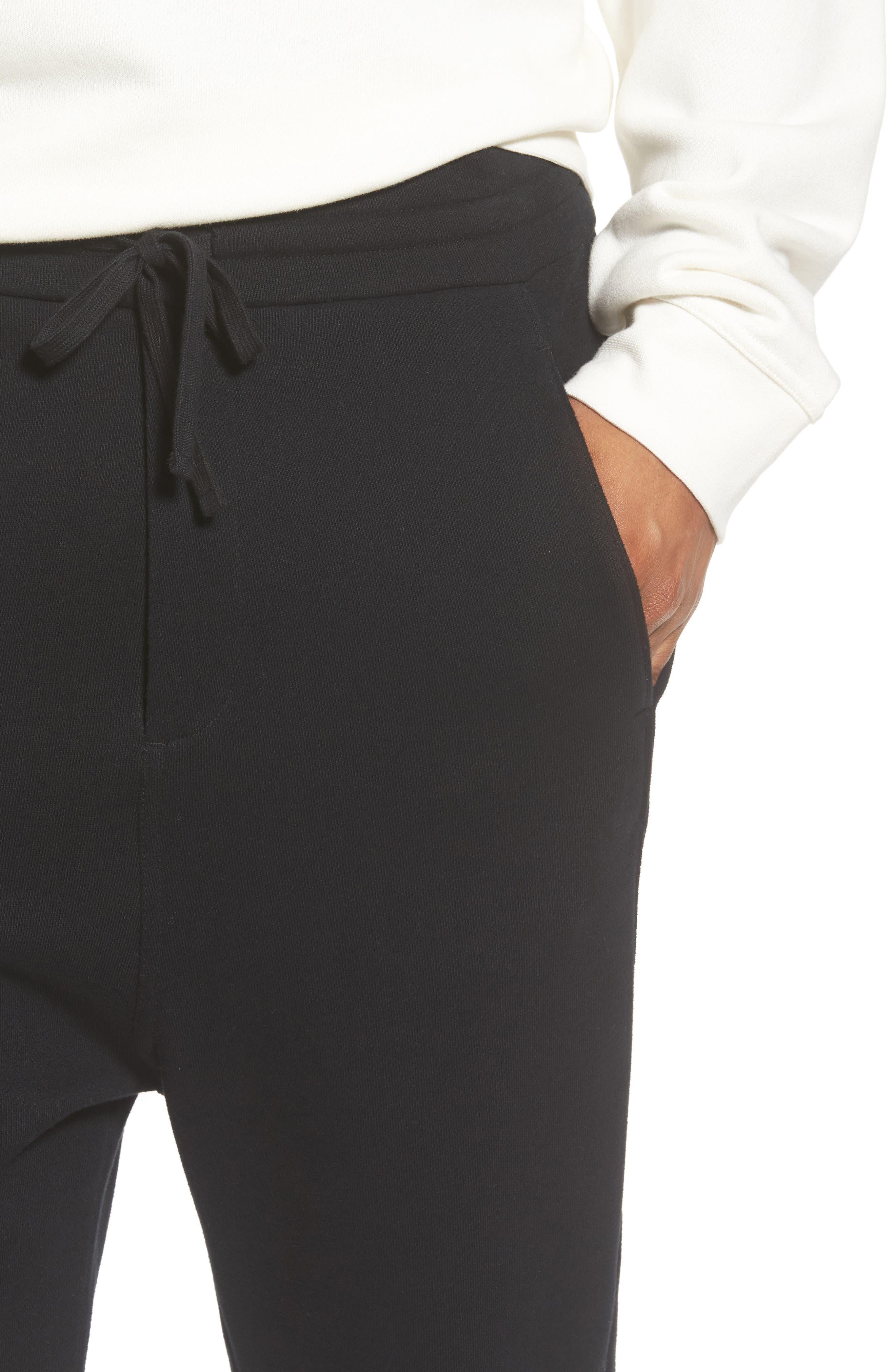 Regular Fit Sweatpants,                             Alternate thumbnail 4, color,                             Black