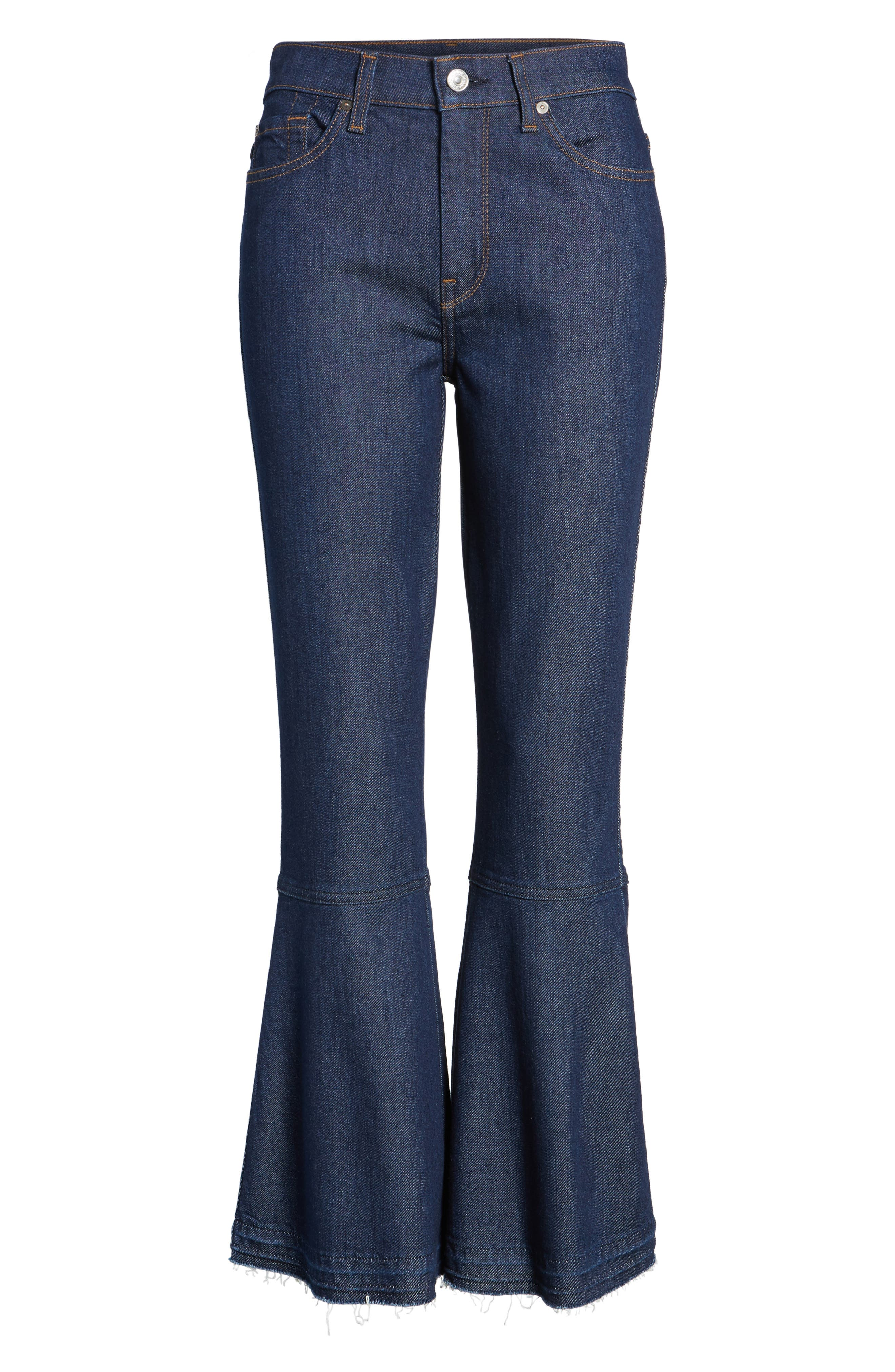 Alternate Image 6  - 7 For All Mankind® Priscilla High Waist Crop Flare Jeans (Wilshire Rinse)