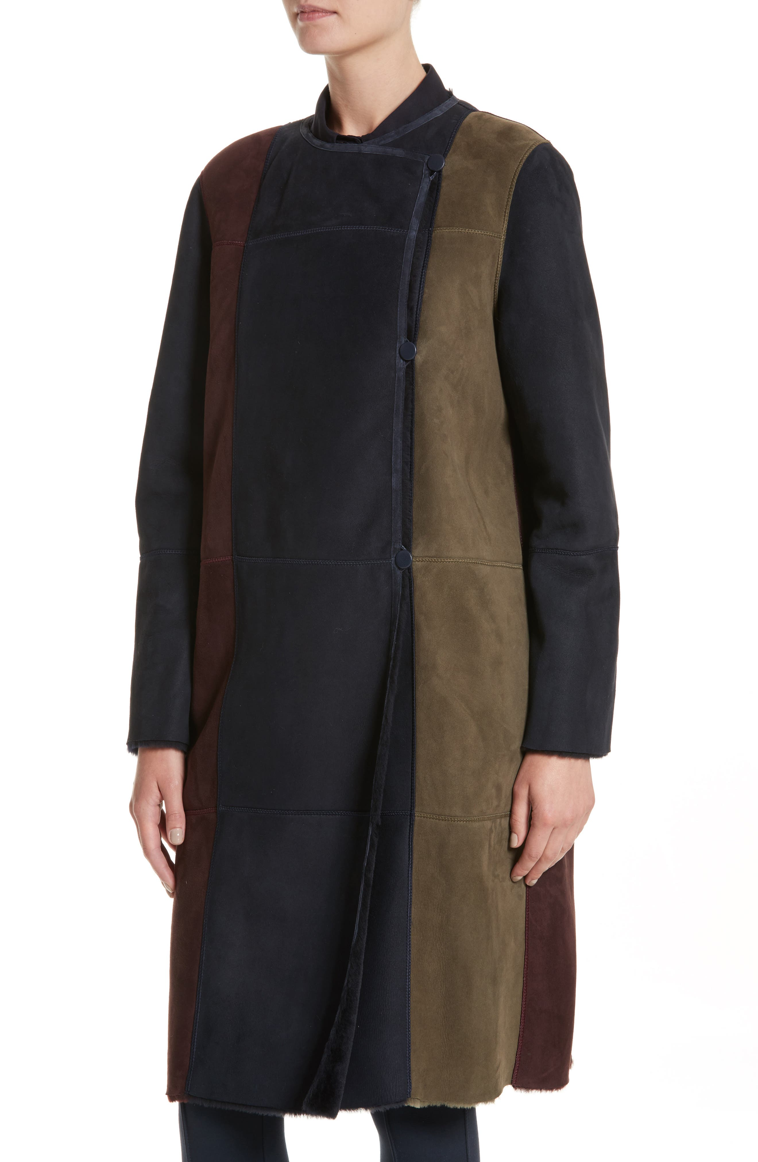Alternate Image 8  - Lafayette 148 New York Robyn Reversible Genuine Shearling Coat
