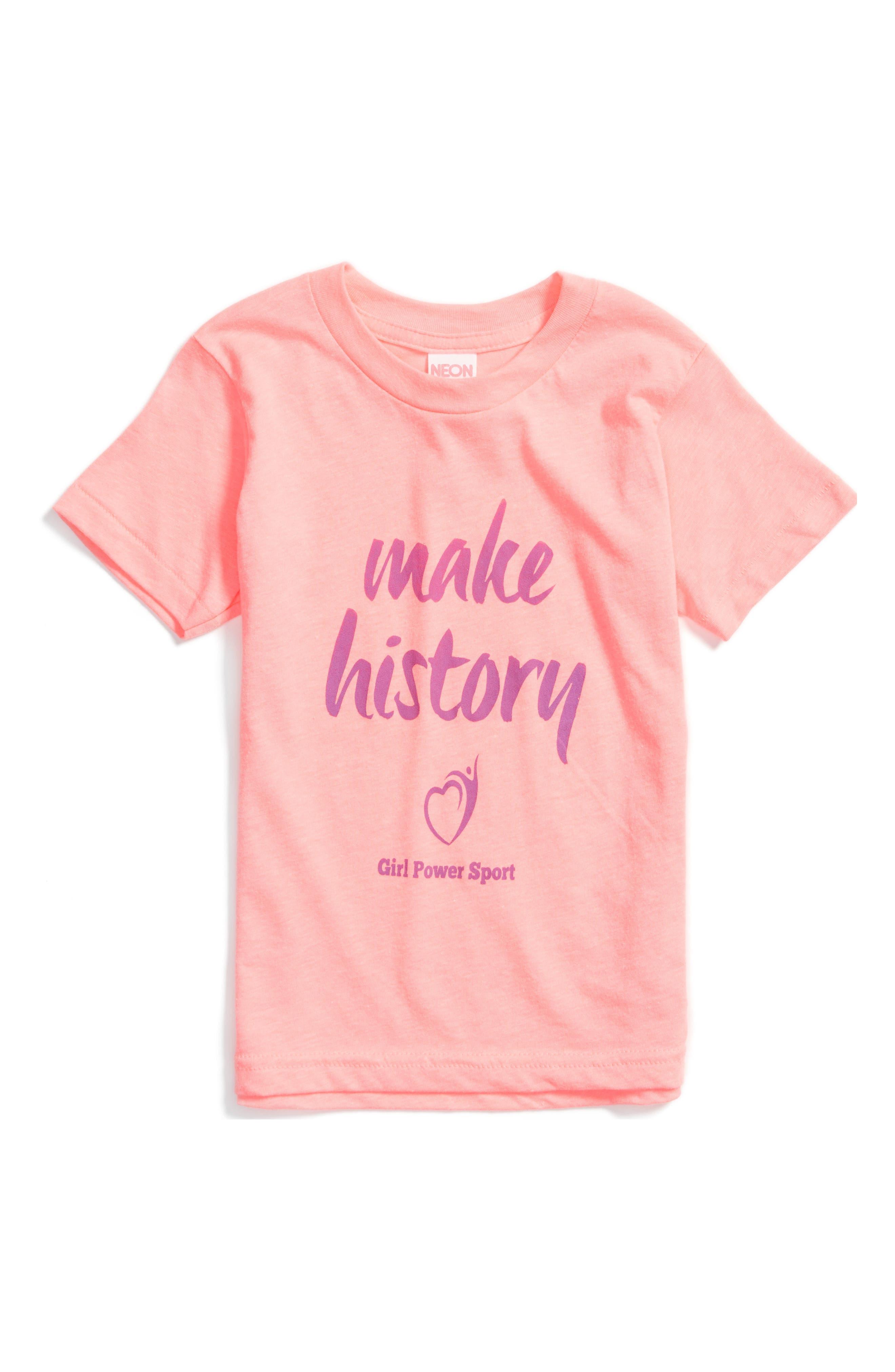 Main Image - GP Sport Make History Graphic Tee (Little Girls & Big Girls)