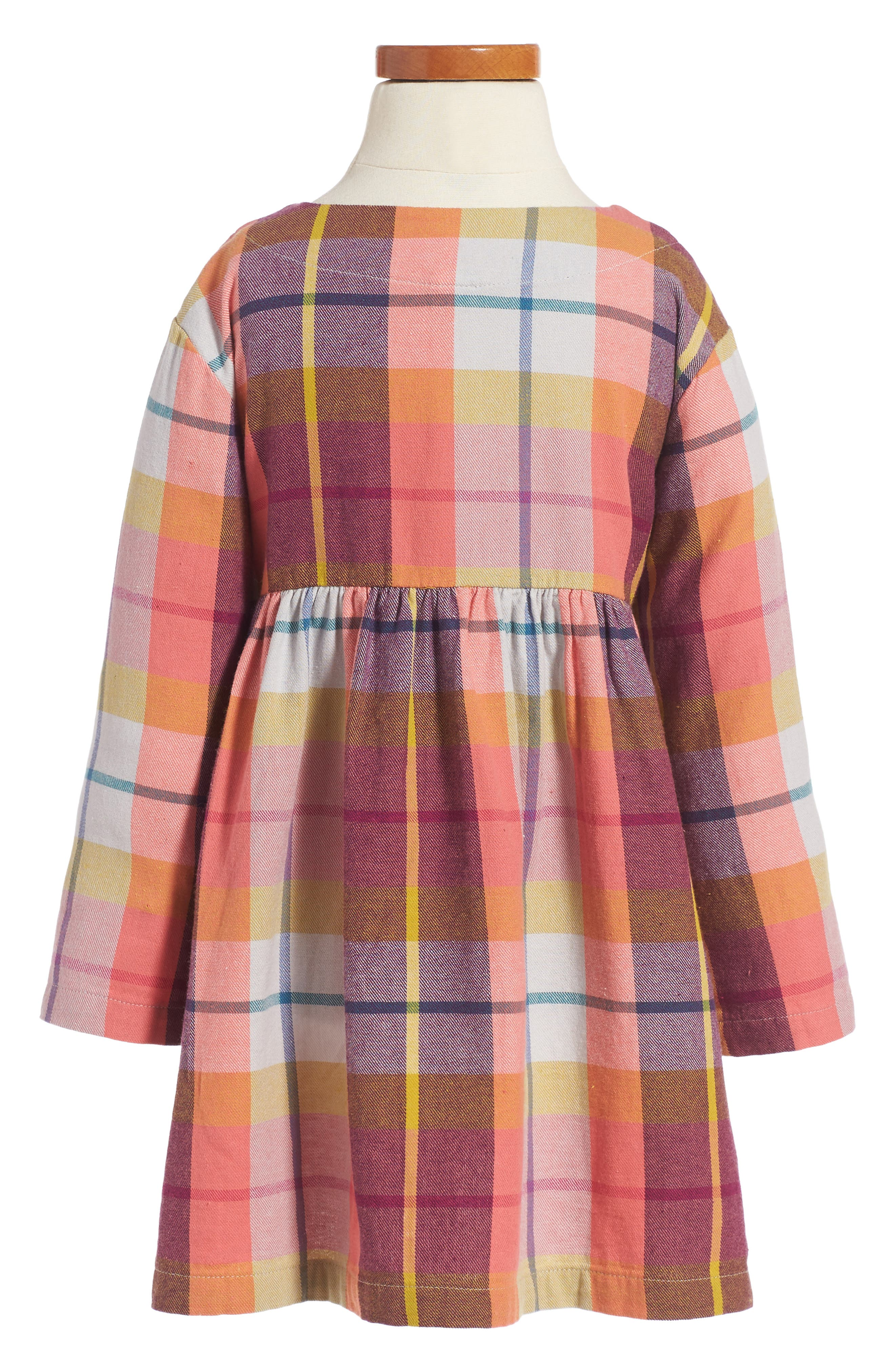 Alternate Image 2  - Tea Collection Plaid Flannel Dress (Toddler Girls & Little Girls)