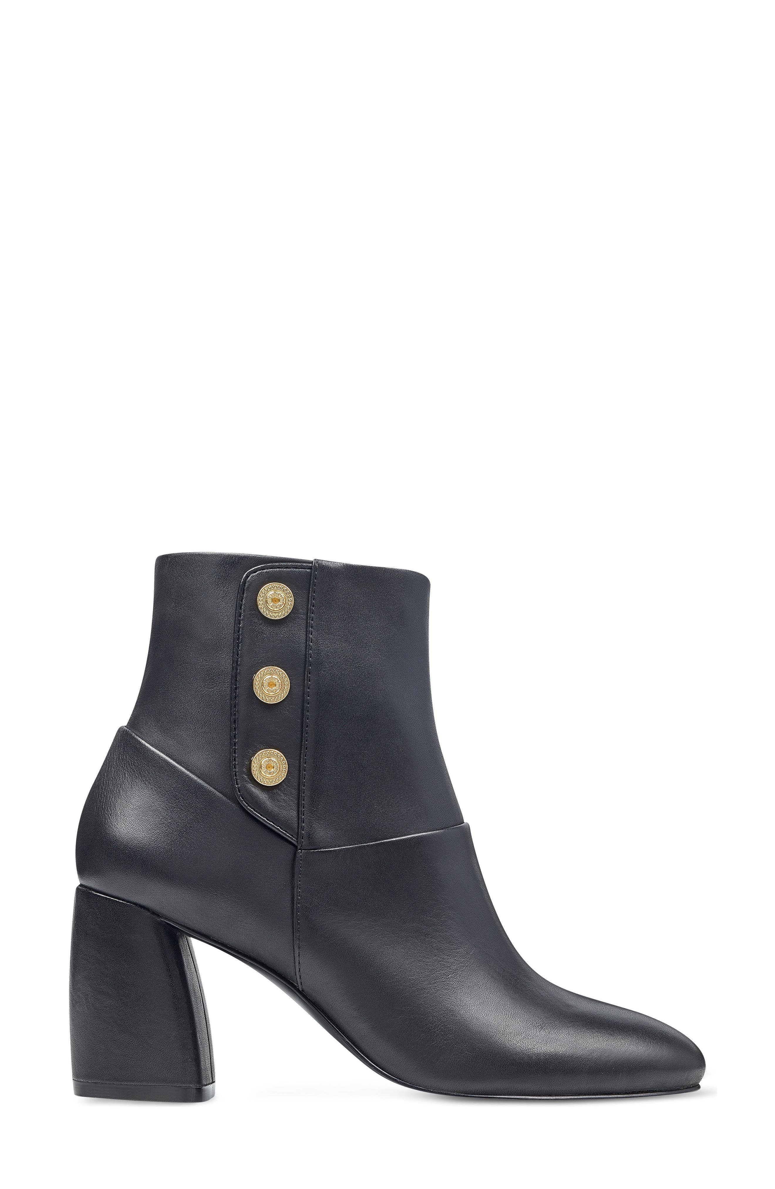 Kirtley Bootie,                             Alternate thumbnail 3, color,                             Black Leather
