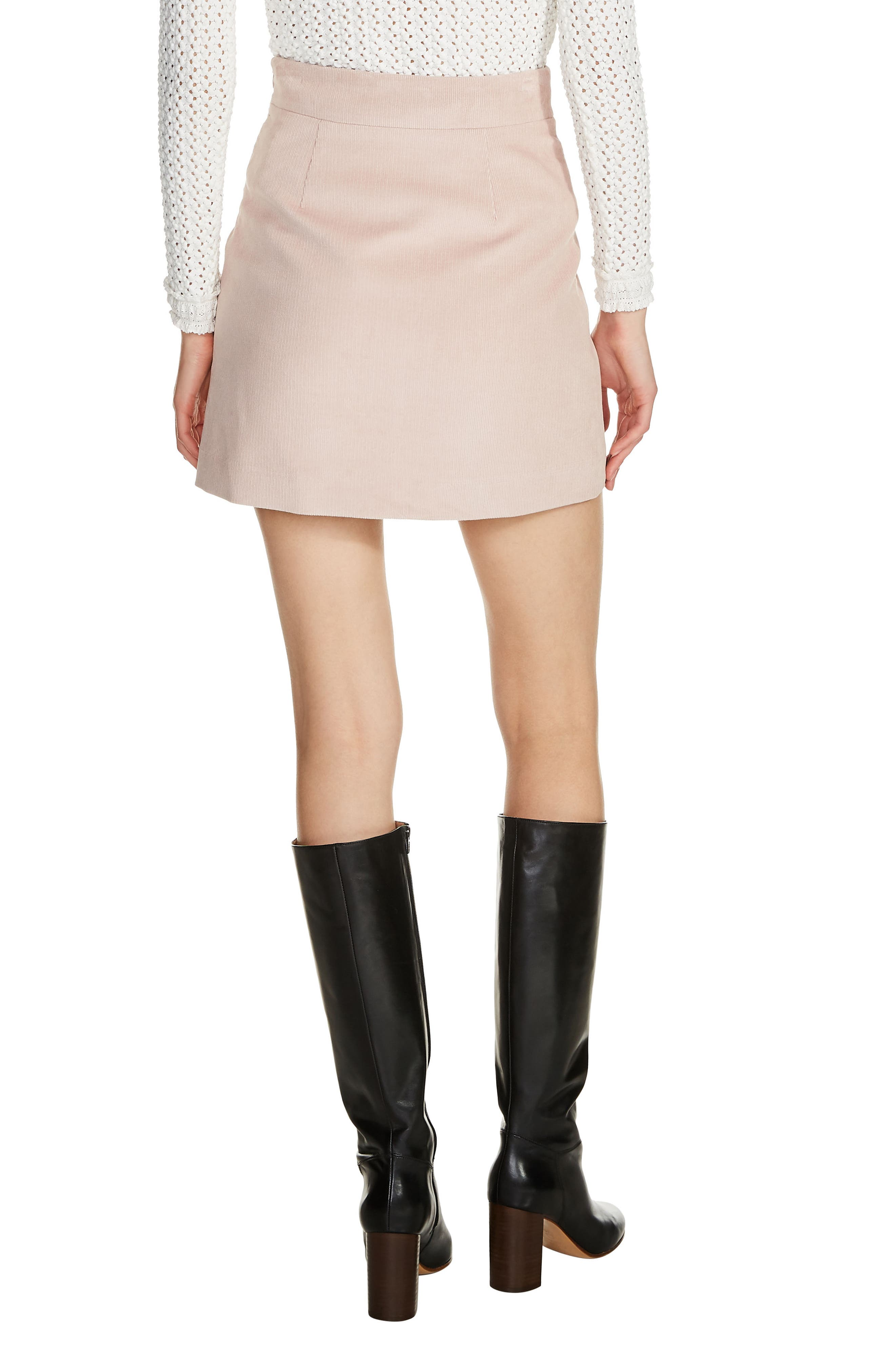Two-Pocket A-Line Miniskirt,                             Alternate thumbnail 2, color,                             Pink