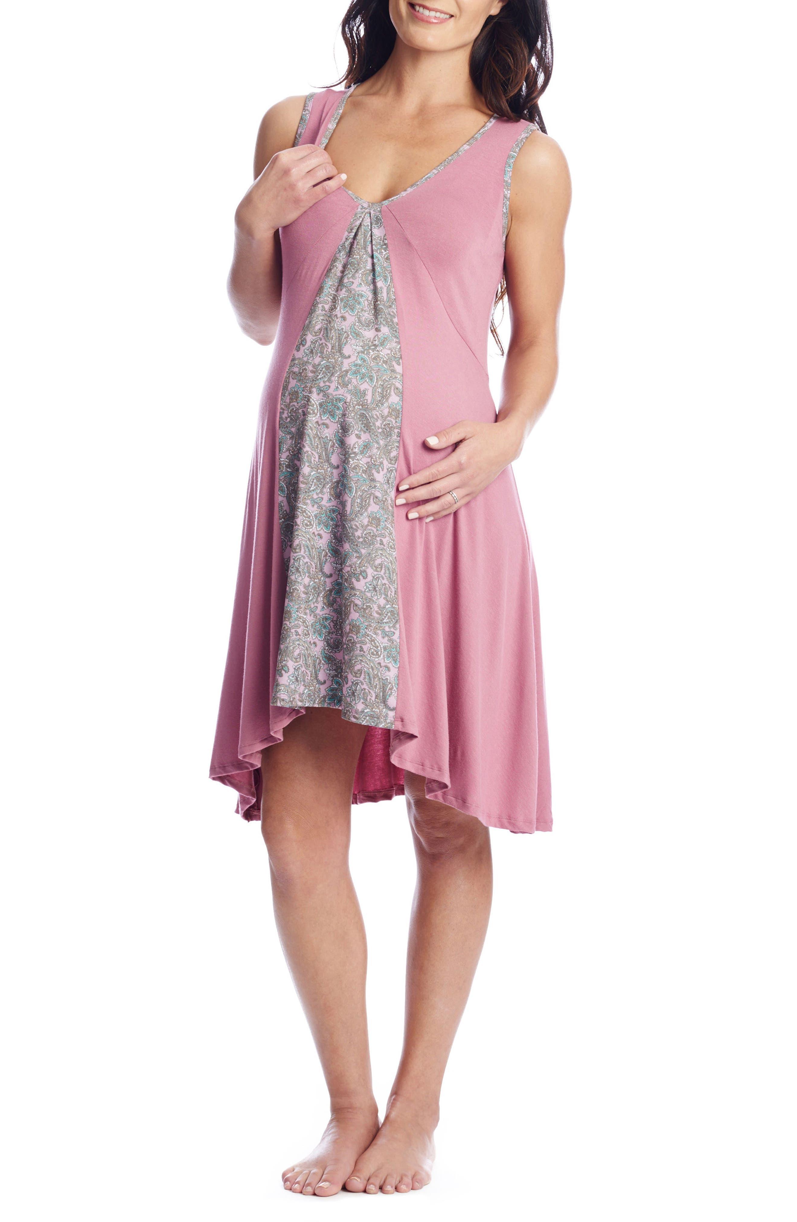 Main Image - Everly Grey Dawn 4-Piece Maternity/Nursing Pajama Set