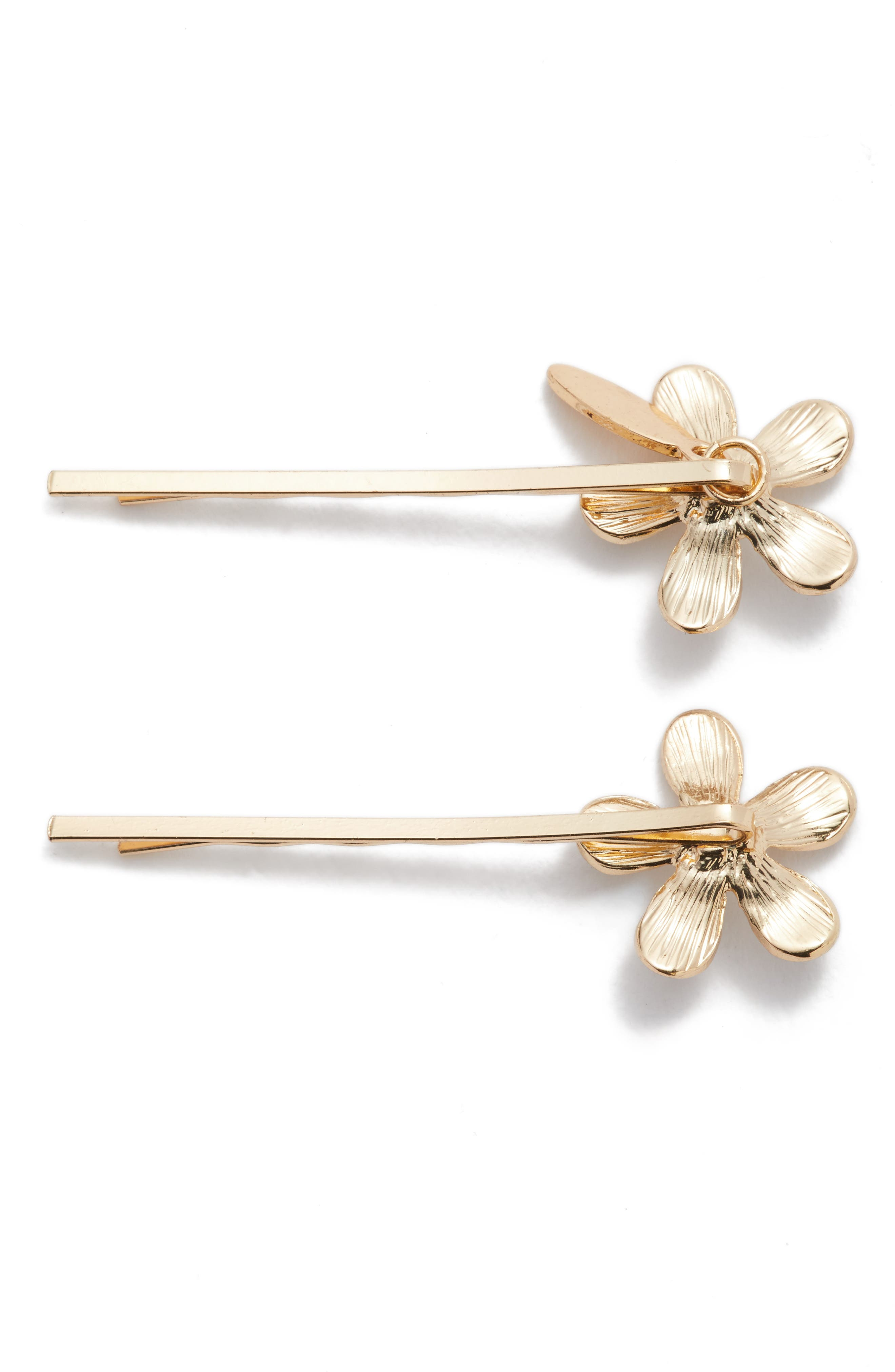 Alternate Image 2  - Tasha Princess Floral Set of 2 Bobby Pins