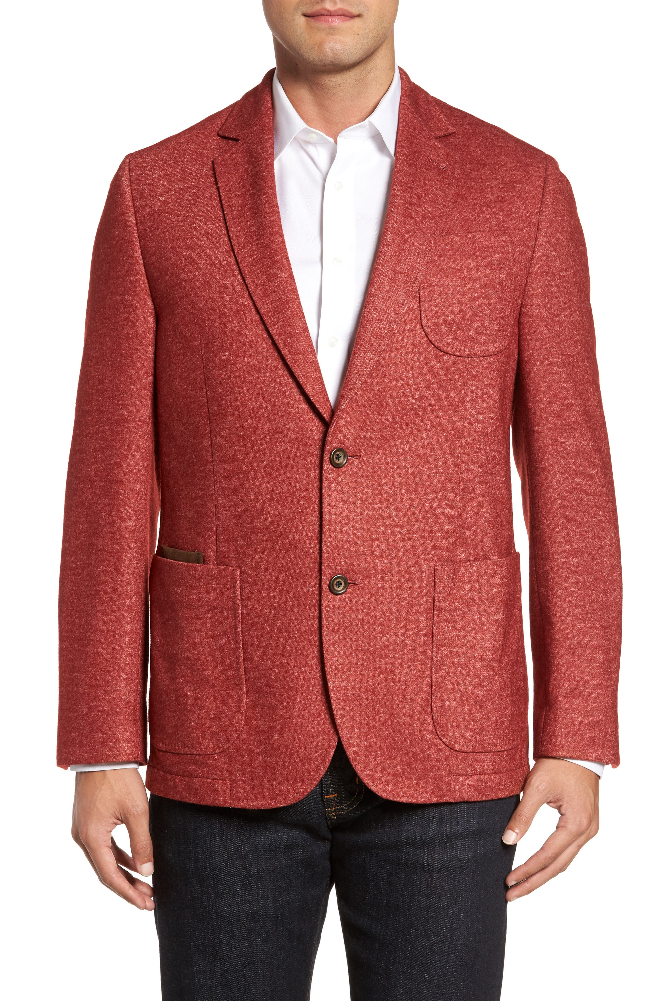 FLYNT Classic Fit Suede Trim Jersey Sport Coat