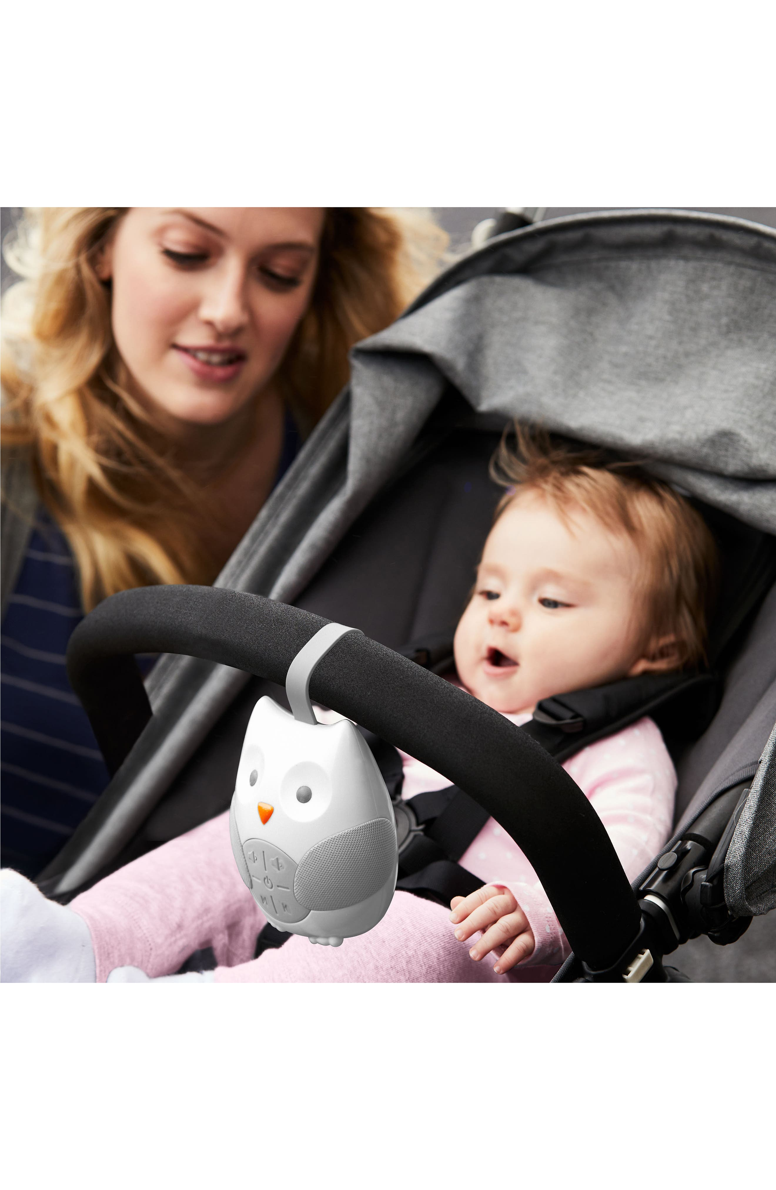 Stroll & Go Portable Baby Soother,                             Alternate thumbnail 3, color,                             White