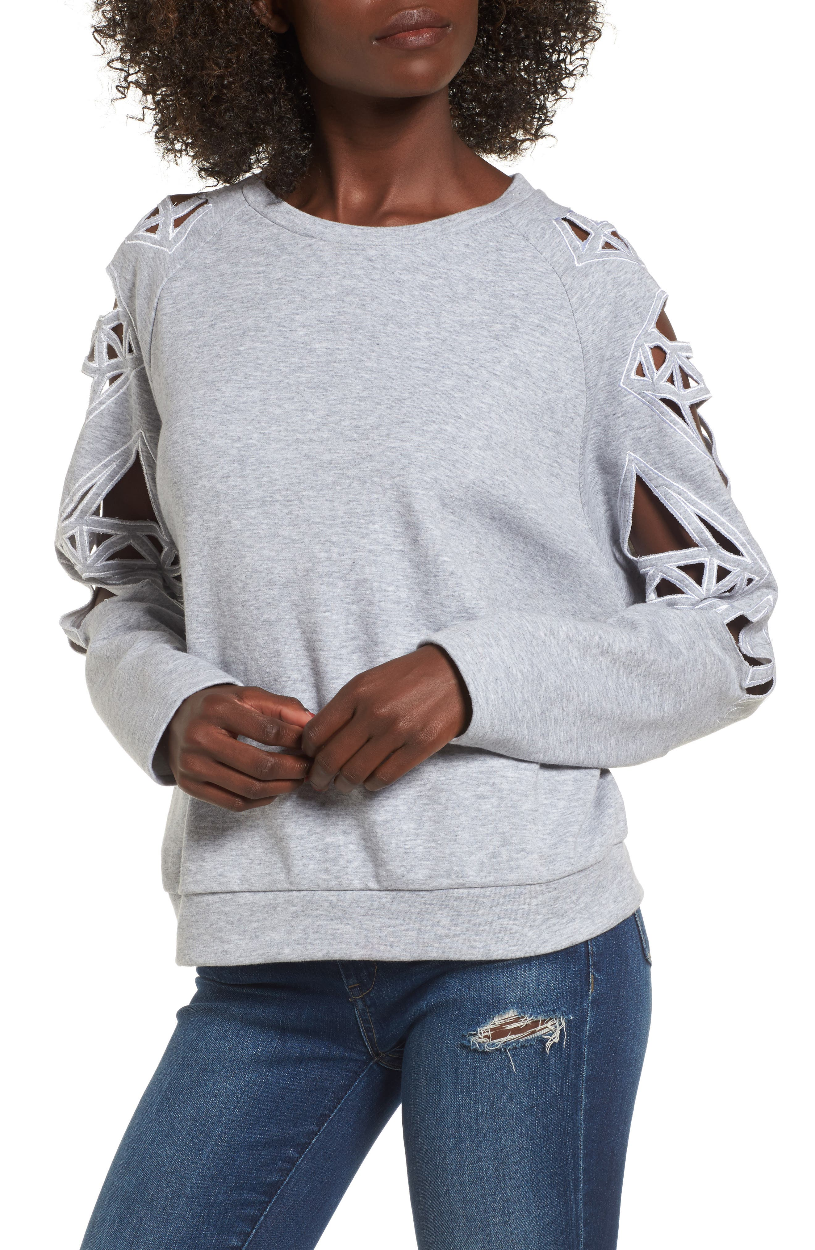 Alternate Image 1 Selected - Supertrash Taffic Cutout Sweatshirt