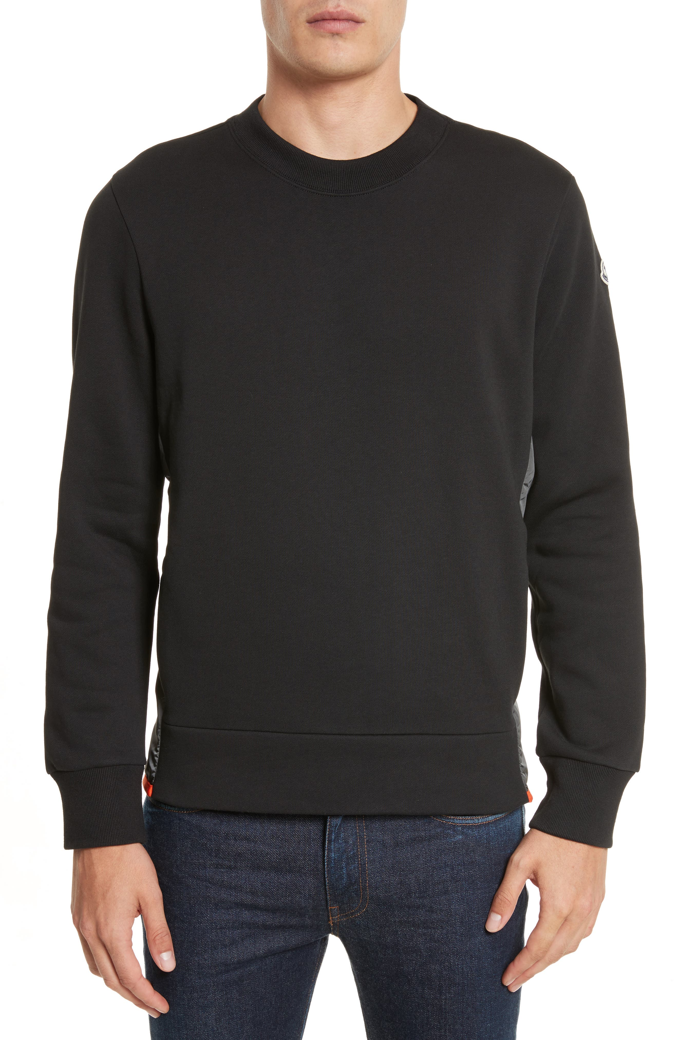 Maglia Crewneck Sweatshirt,                             Alternate thumbnail 4, color,                             Black