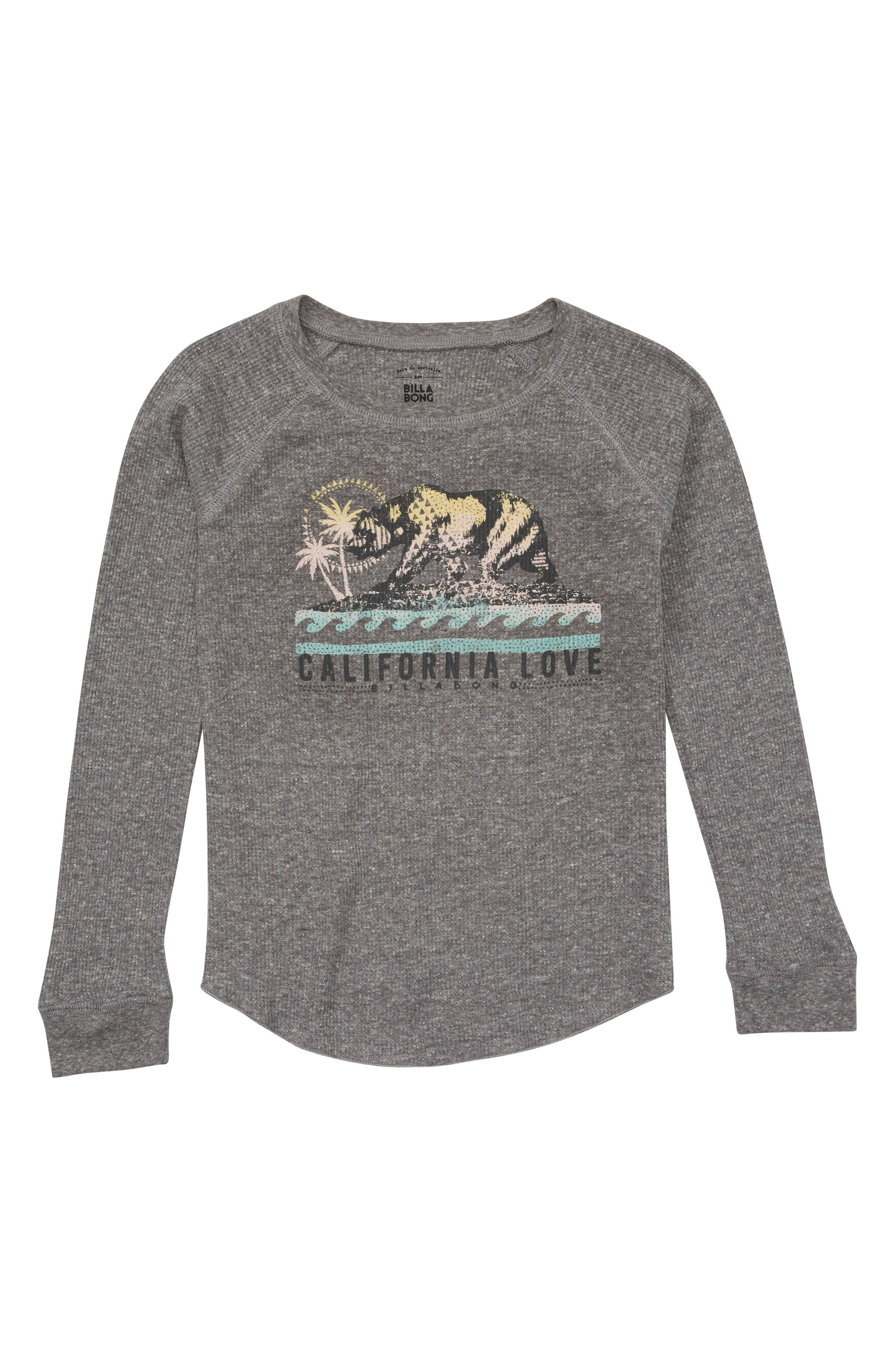 Billabong Cali Bear Original Graphic Waffle Tee (Little Girls & Big Girls)