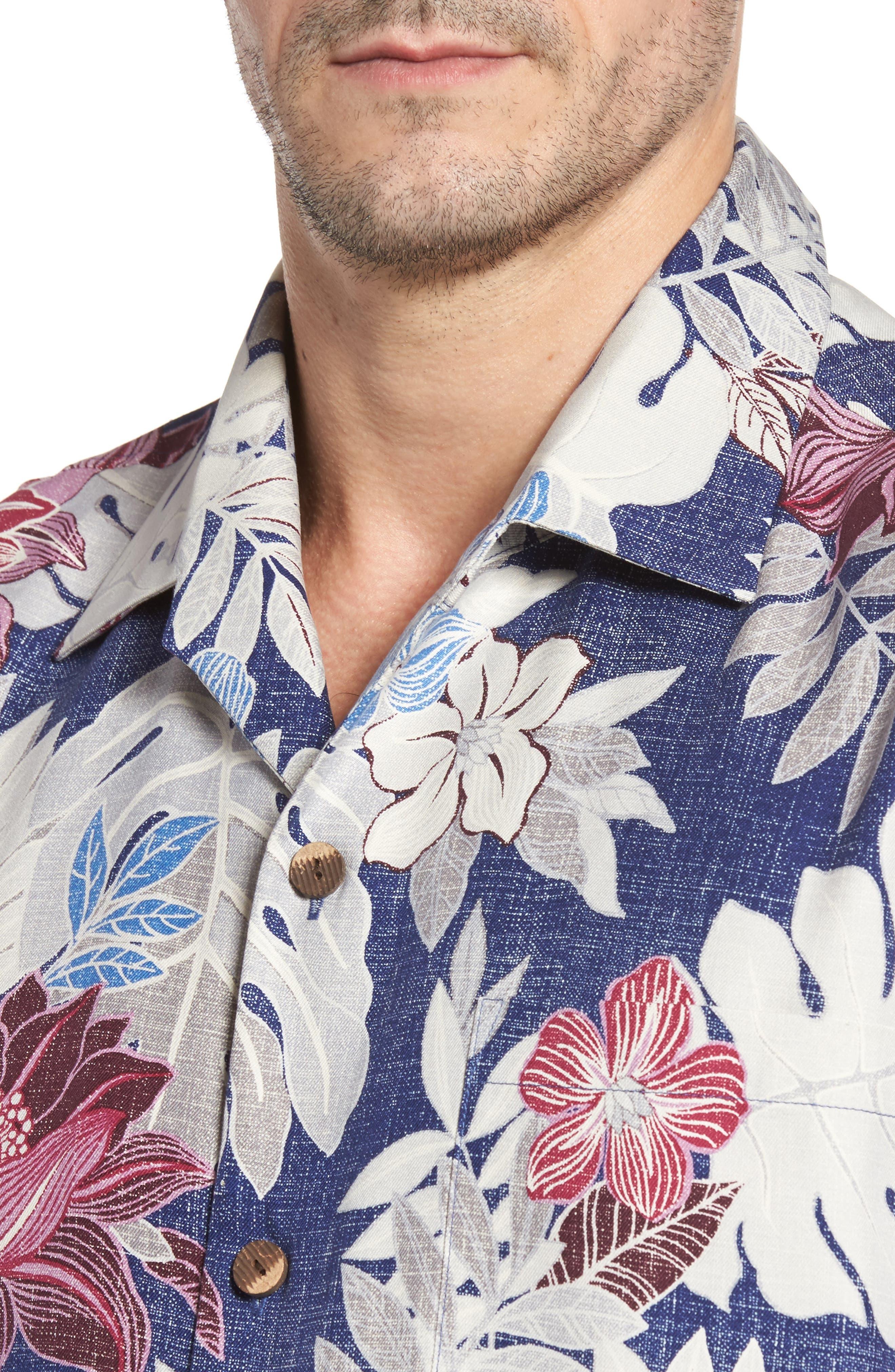Alternate Image 4  - Tommy Bahama Desert Blooms Original Fit Print Silk Camp Shirt