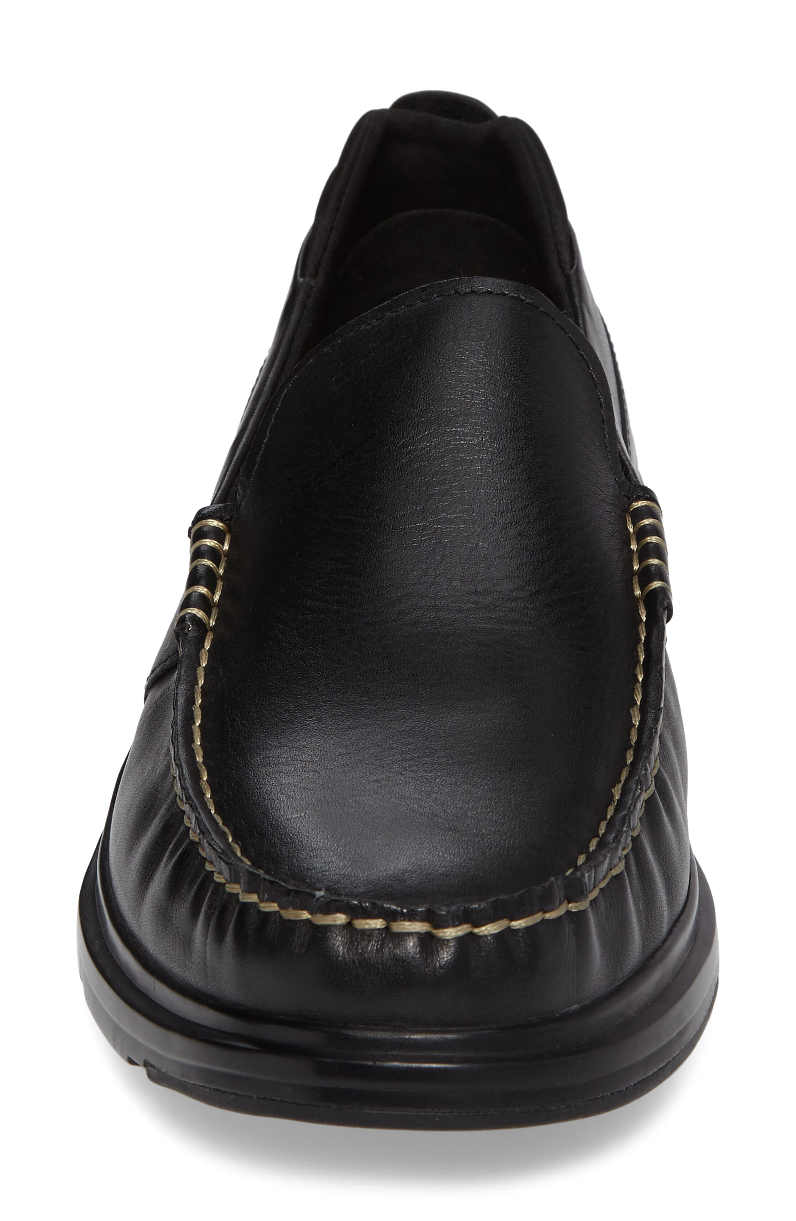 Bancroft Loafer,                             Alternate thumbnail 4, color,                             Black