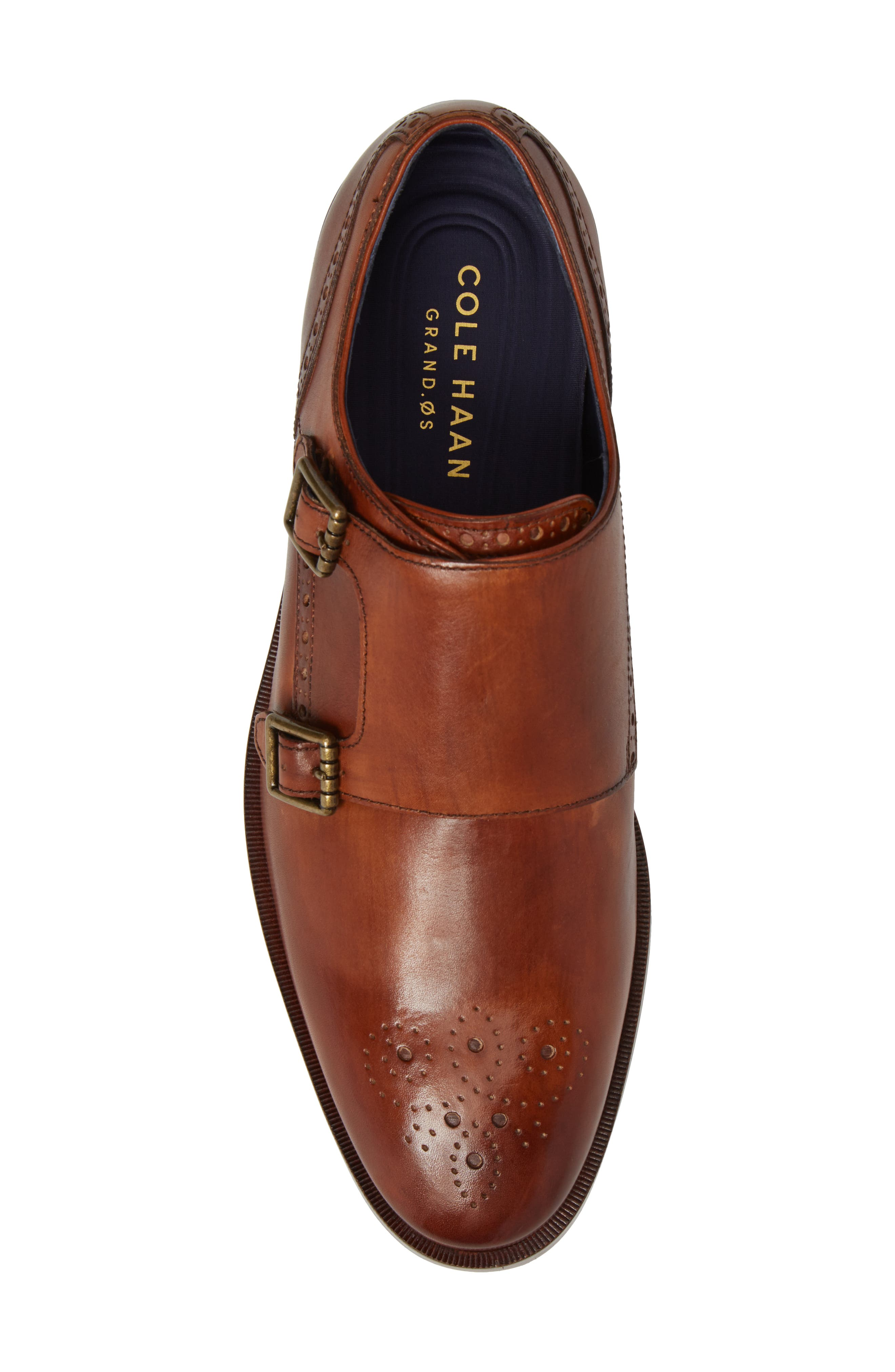 Hamilton Double Monk Strap Shoe,                             Alternate thumbnail 5, color,                             British Tan Leather