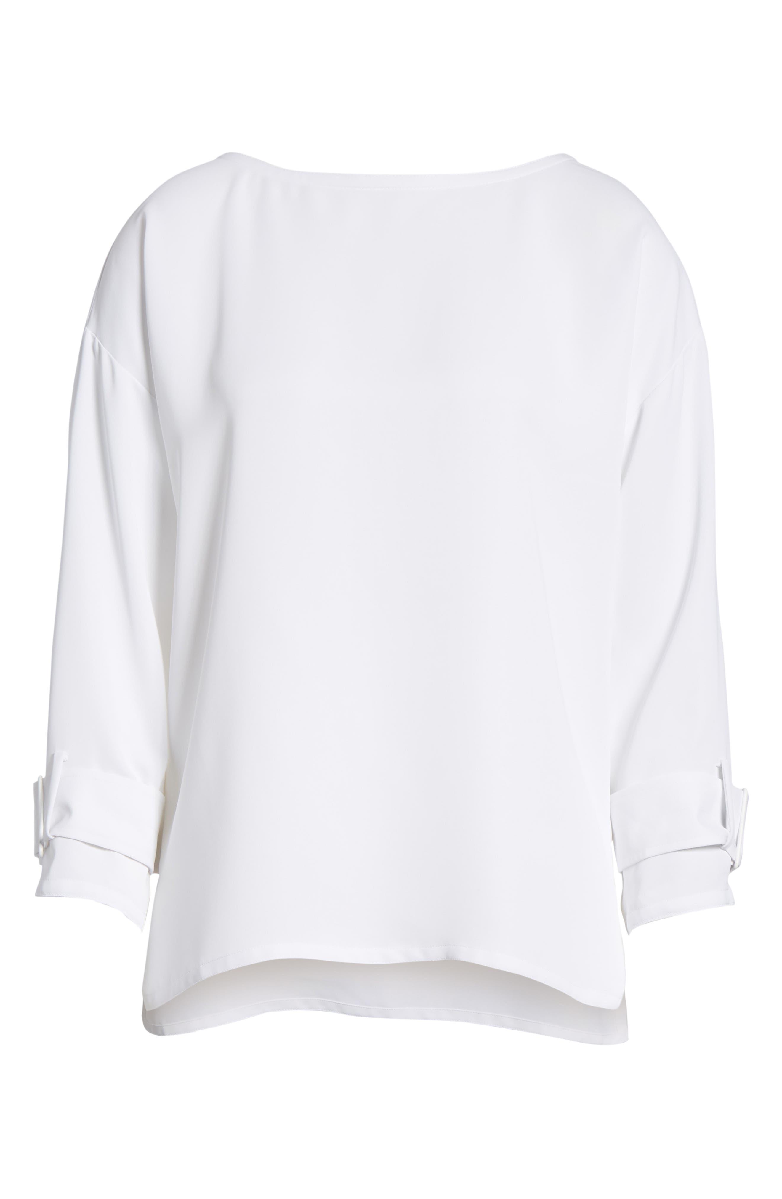 Alternate Image 6  - NIC+ZOE Buckle Sleeve Top (Regular & Petite)