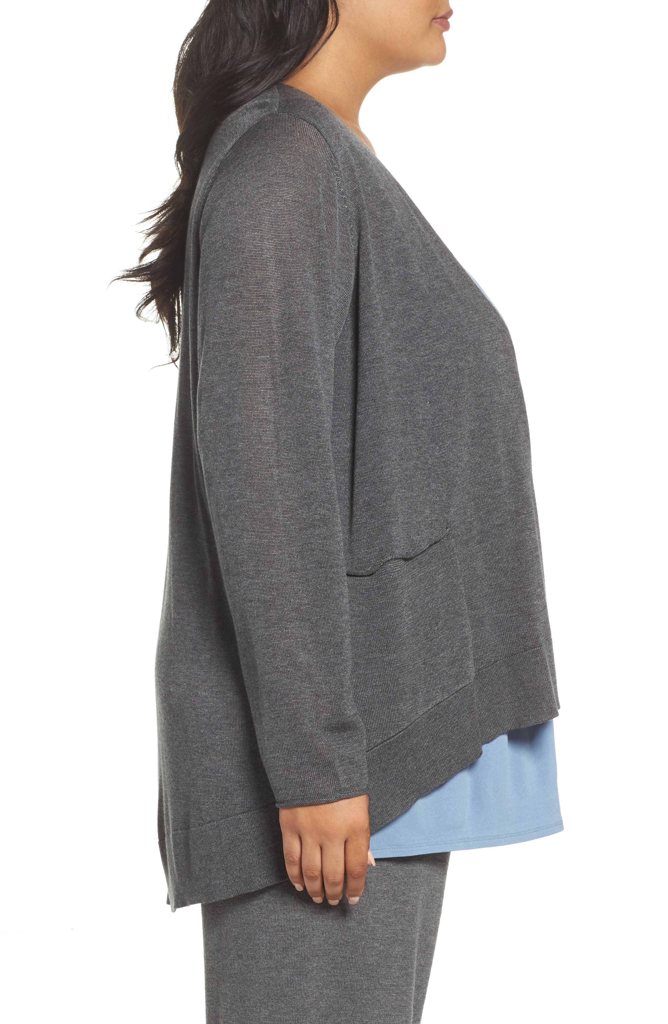 Alternate Image 3  - Eileen Fisher Slouchy Tencel® Blend Cardigan (Plus Size)