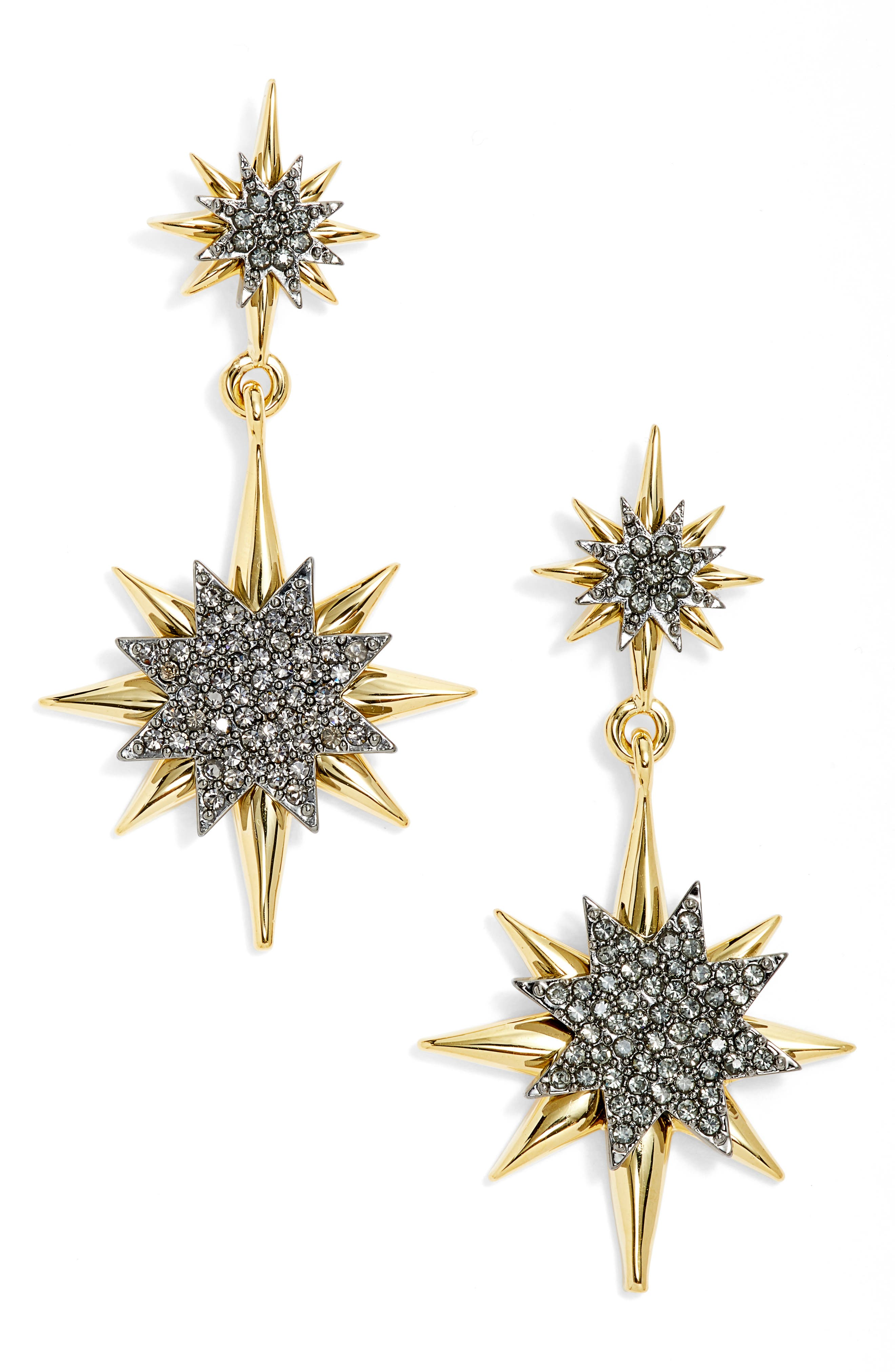 Vince Camuto Crystal Double Drop Earrings