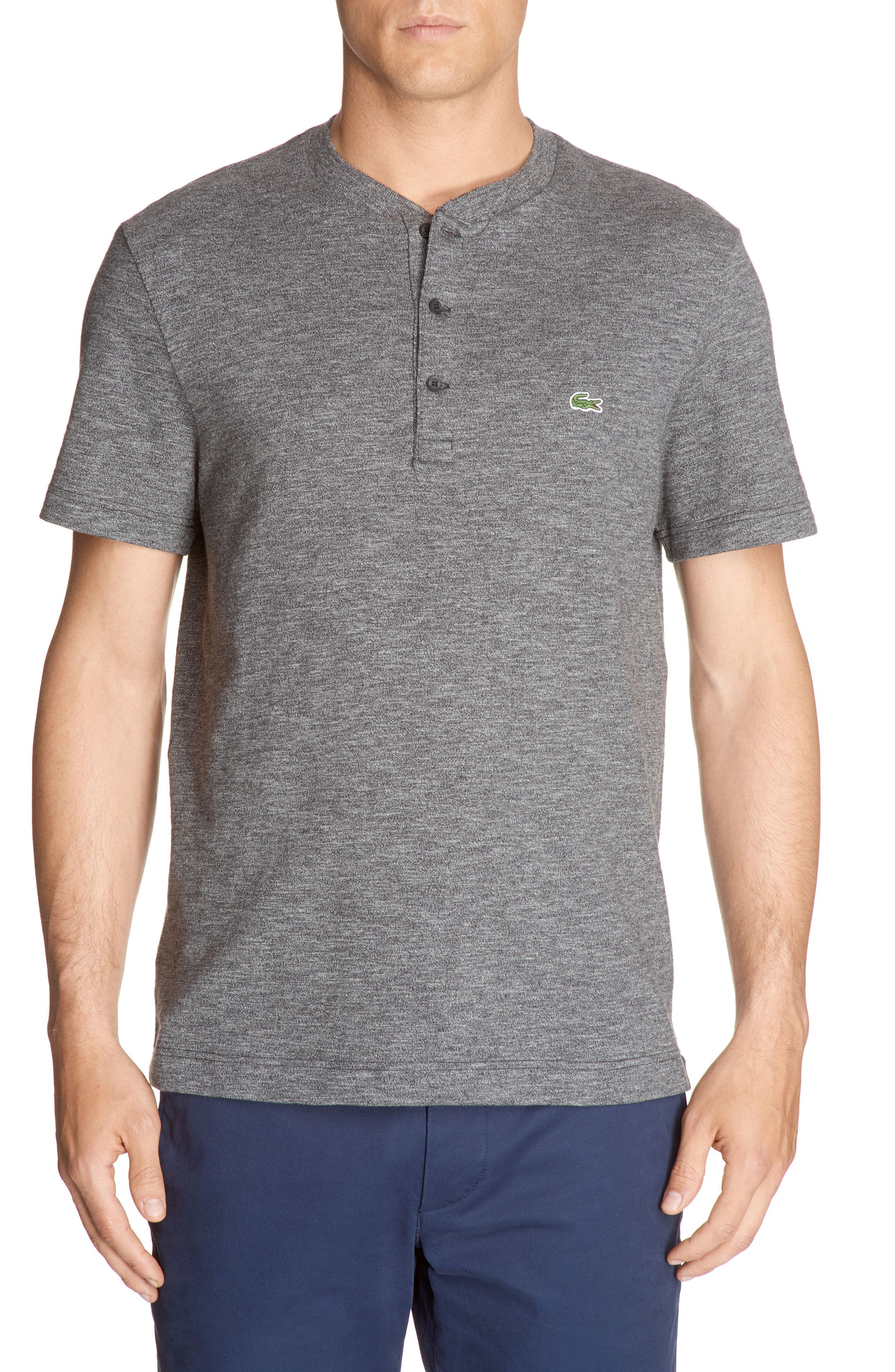 Henley T-Shirt,                         Main,                         color, Chine Cachou/ Galaxite