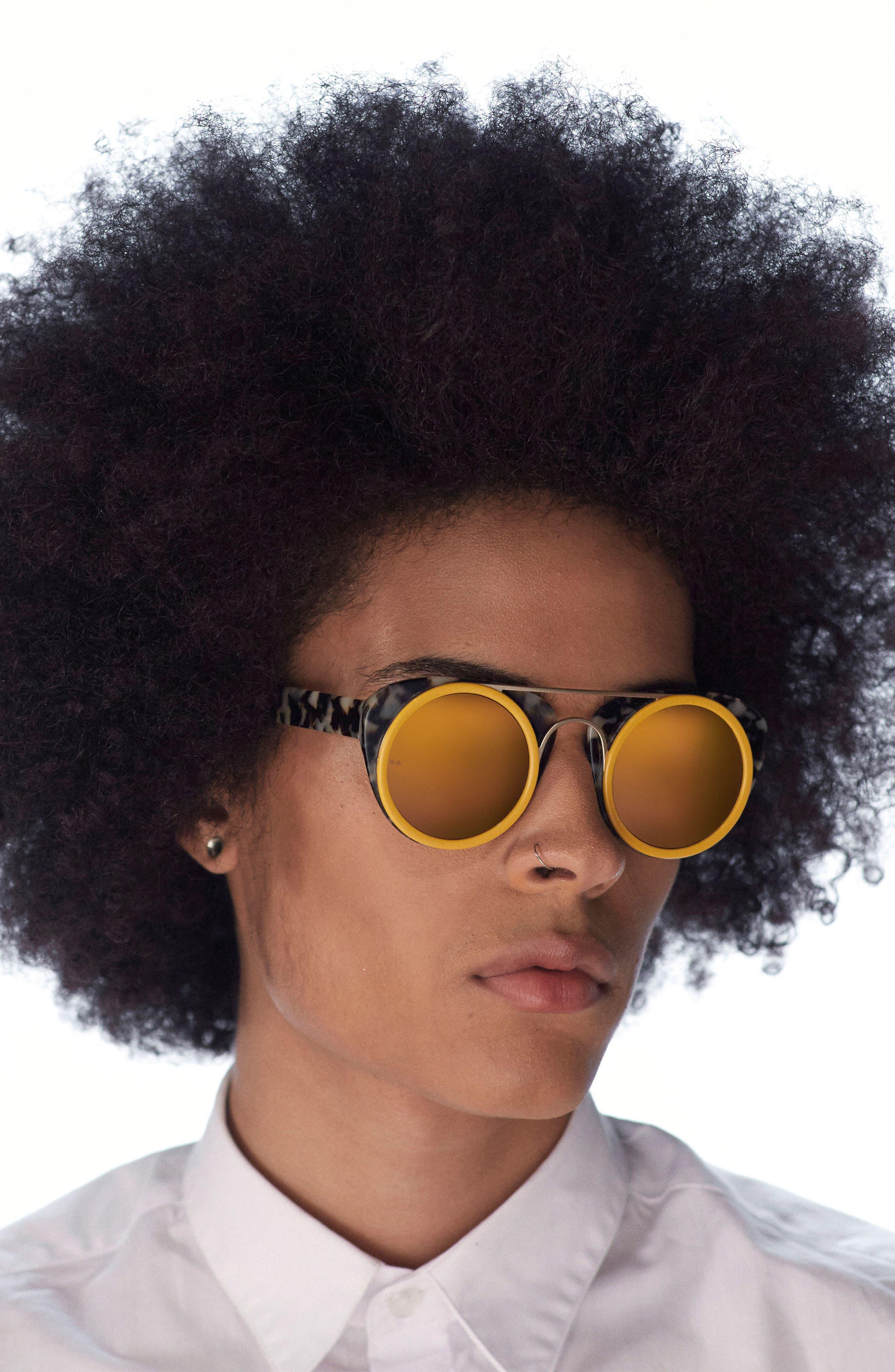 Soda Pop II 53mm Square Sunglasses,                             Alternate thumbnail 2, color,                             Ivory/ Ginger Tortoise/ Silver