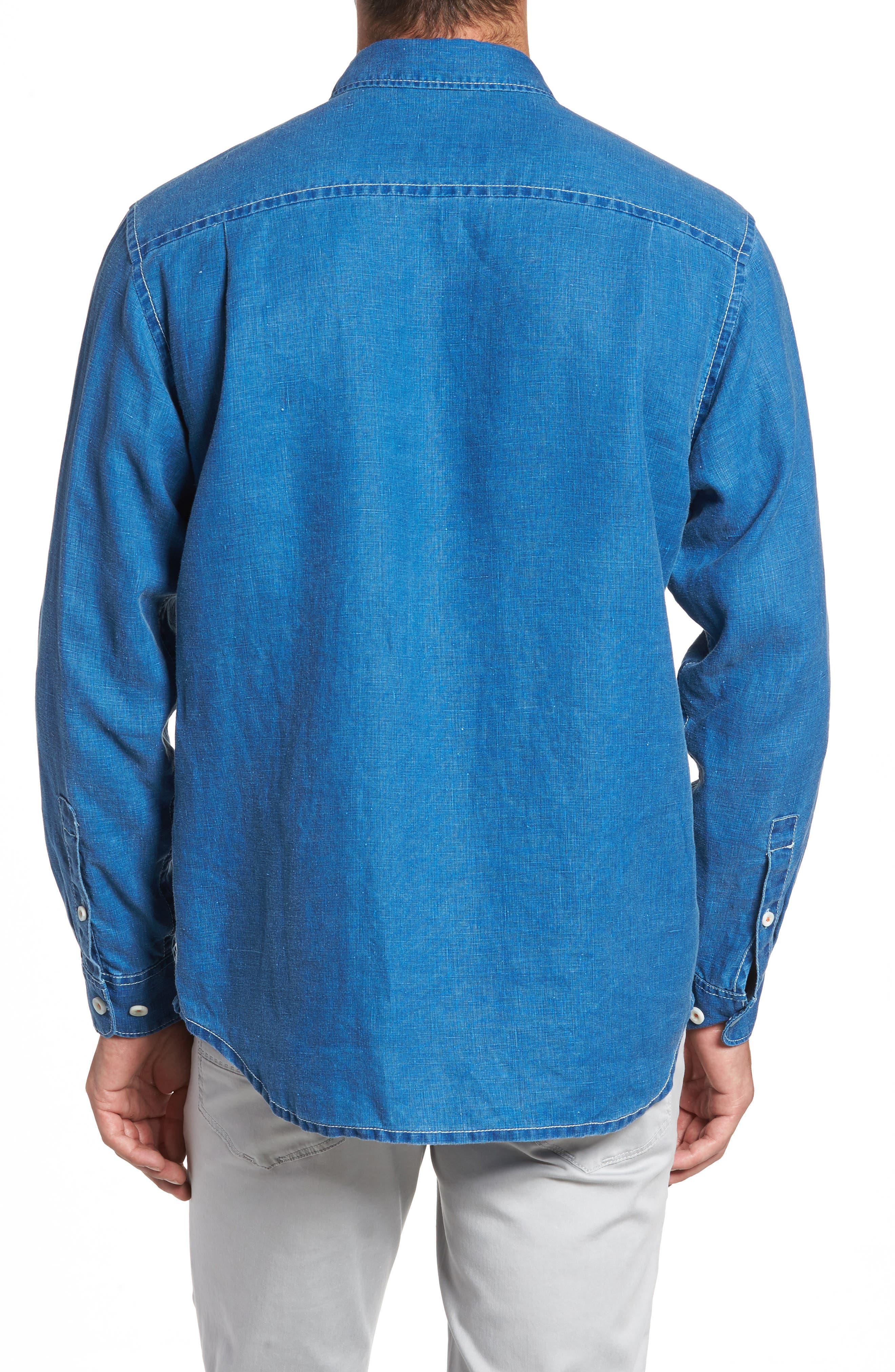 Alternate Image 2  - Tommy Bahama Sea Glass Breezer Linen Sport Shirt