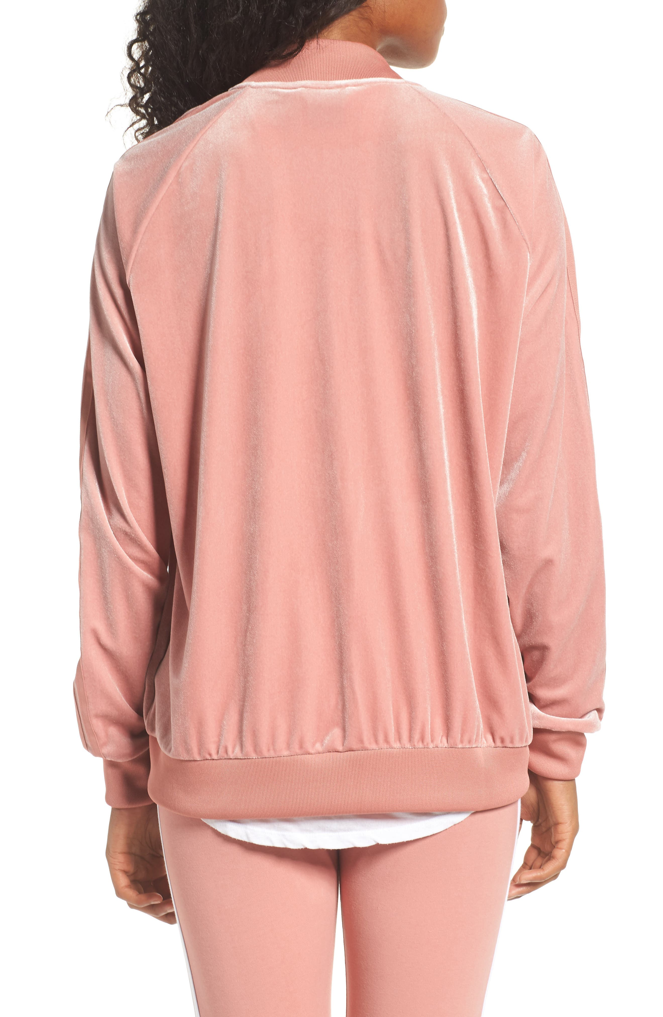 Alternate Image 2  - adidas originals Velvet Zip Sweatshirt