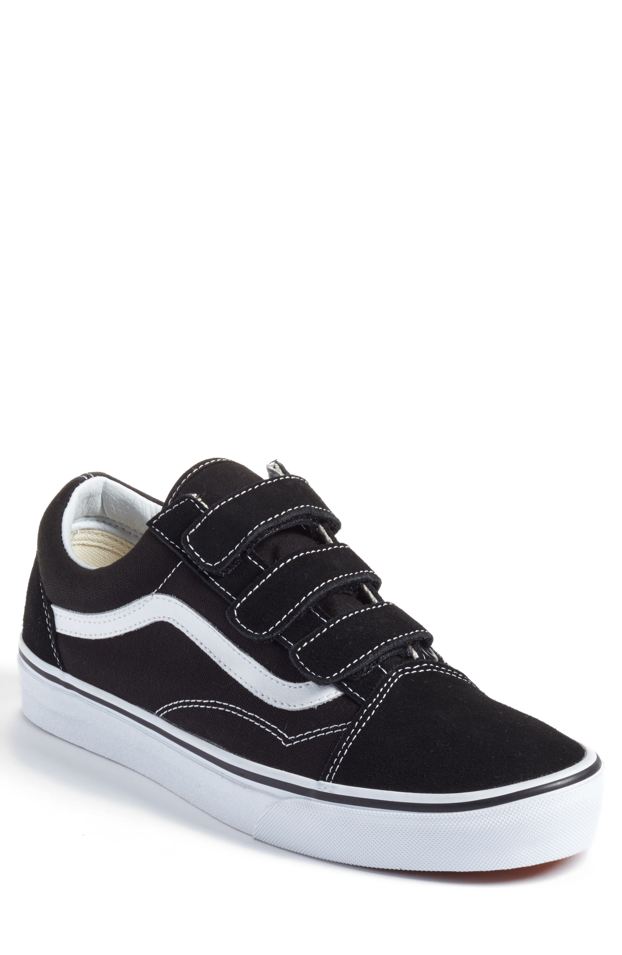 Old Skool V-Sneaker,                             Main thumbnail 1, color,                             Black/ True White Suede/Canvas