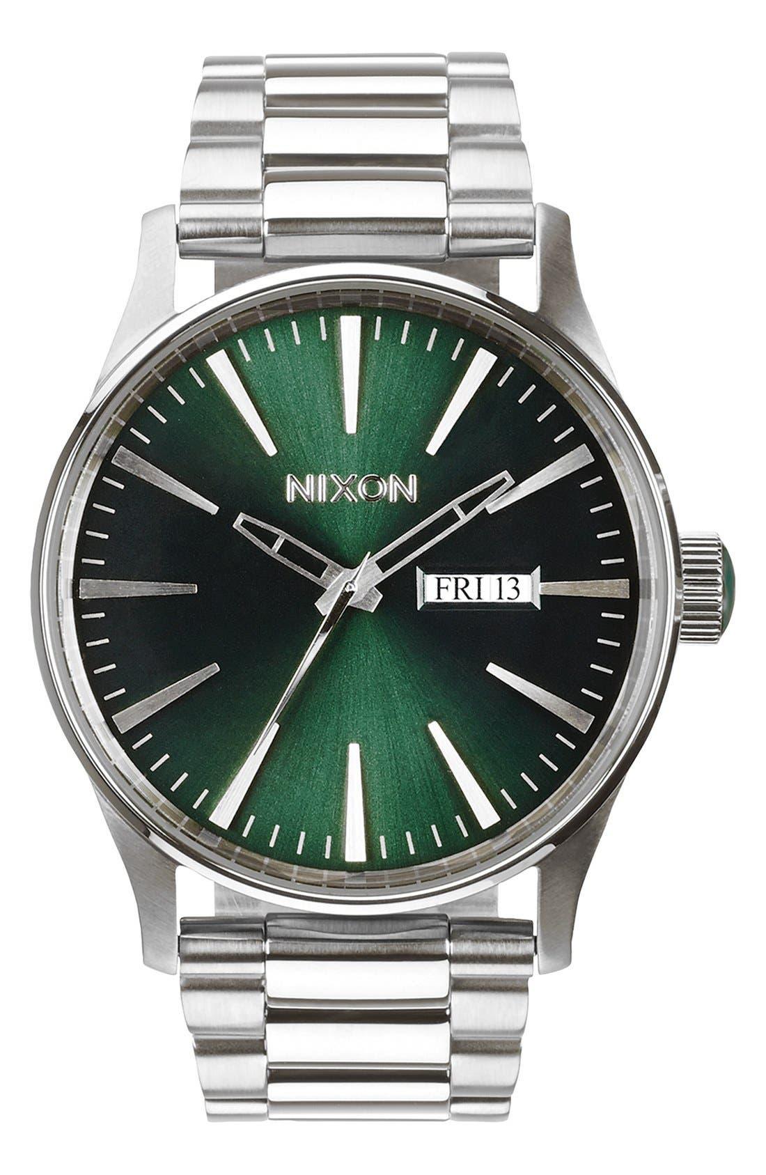 NIXON The Sentry Round Bracelet Watch, 42mm