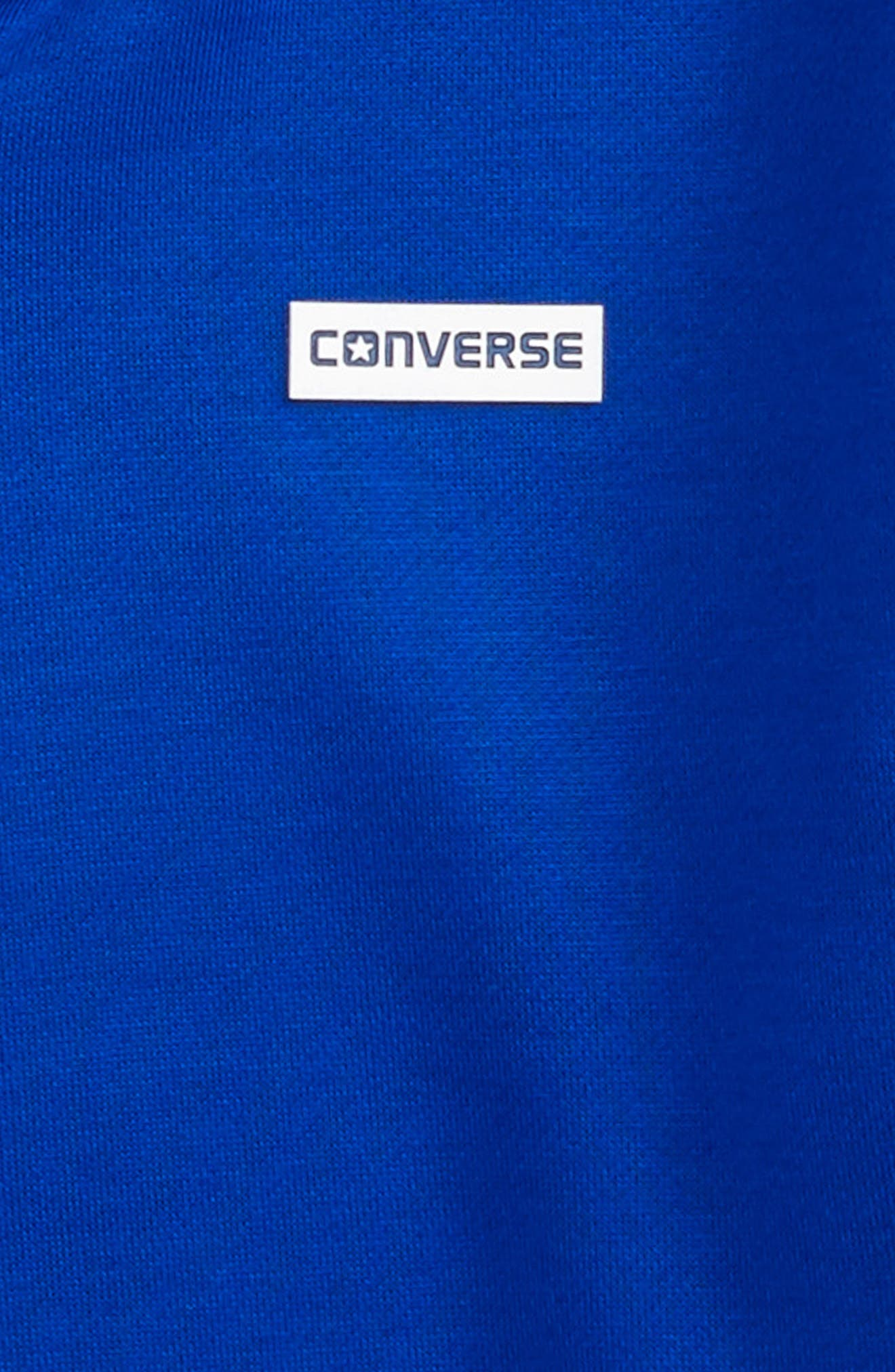 Alternate Image 2  - Converse Full Zip Fleece Hoodie (Big Boys)