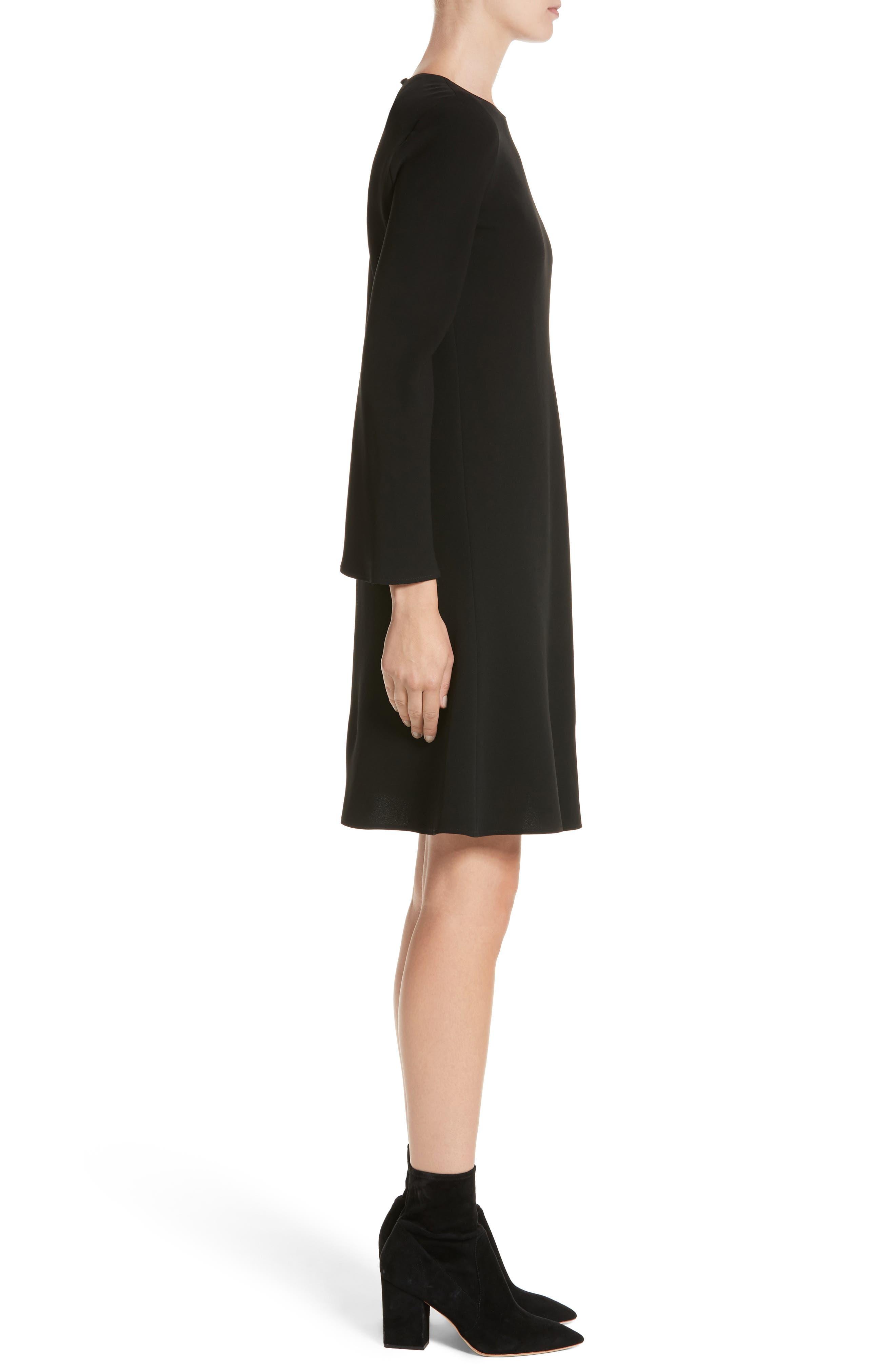Kalitta Finesse Crepe Dress,                             Alternate thumbnail 3, color,                             Black