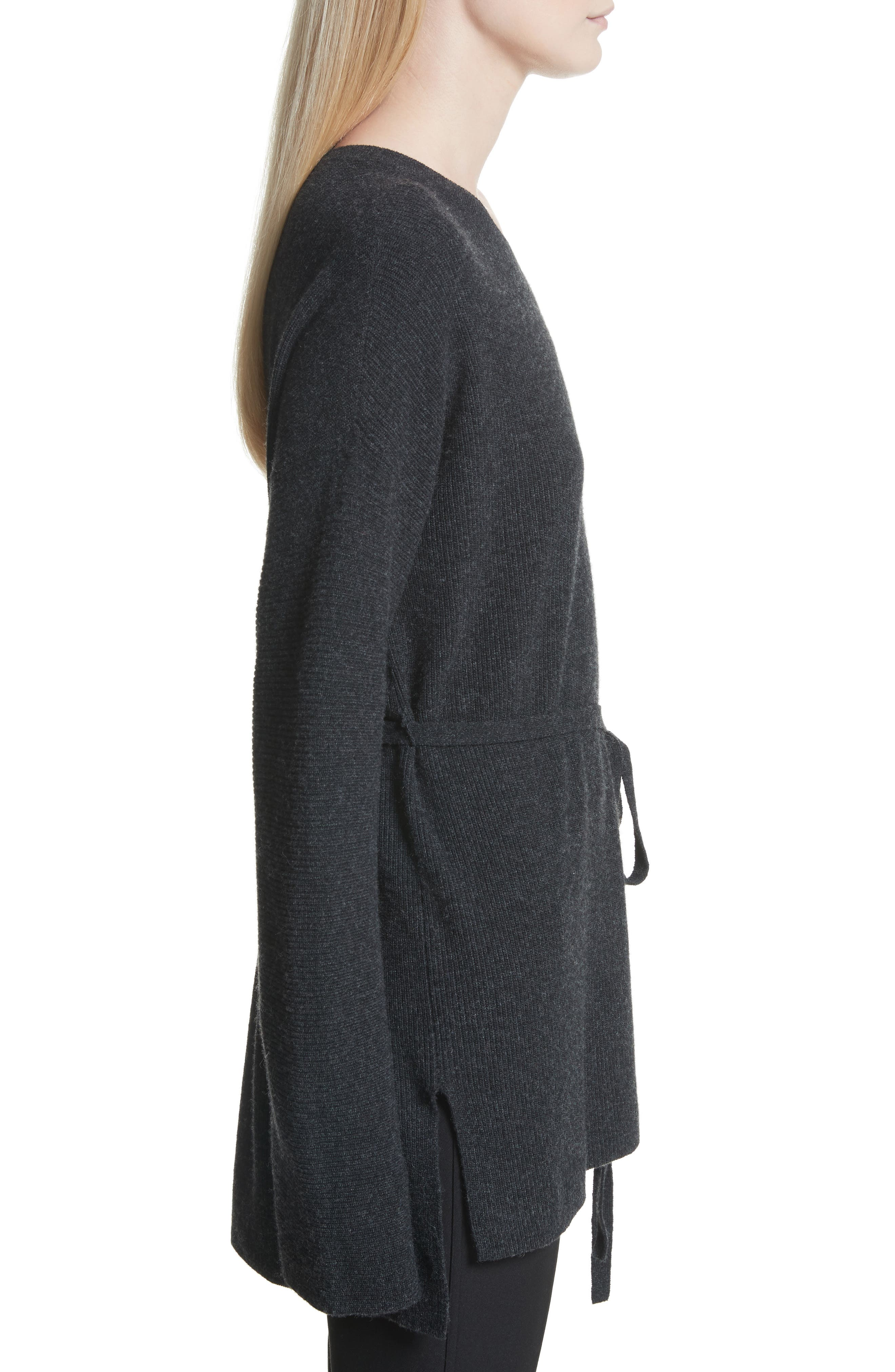 Gisella Slouchy Sweater,                             Alternate thumbnail 3, color,                             Charcoal