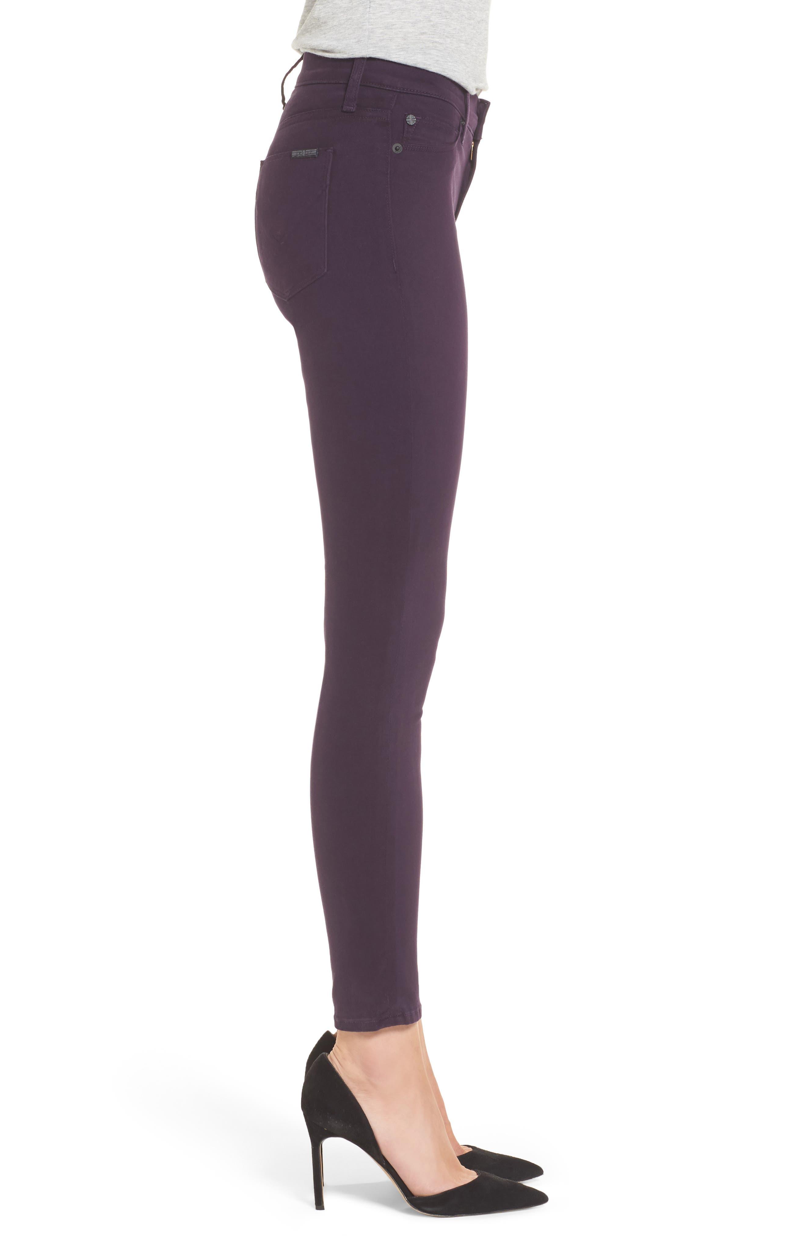 Nico Ankle Skinny Pants,                             Alternate thumbnail 3, color,                             Velvet Plum