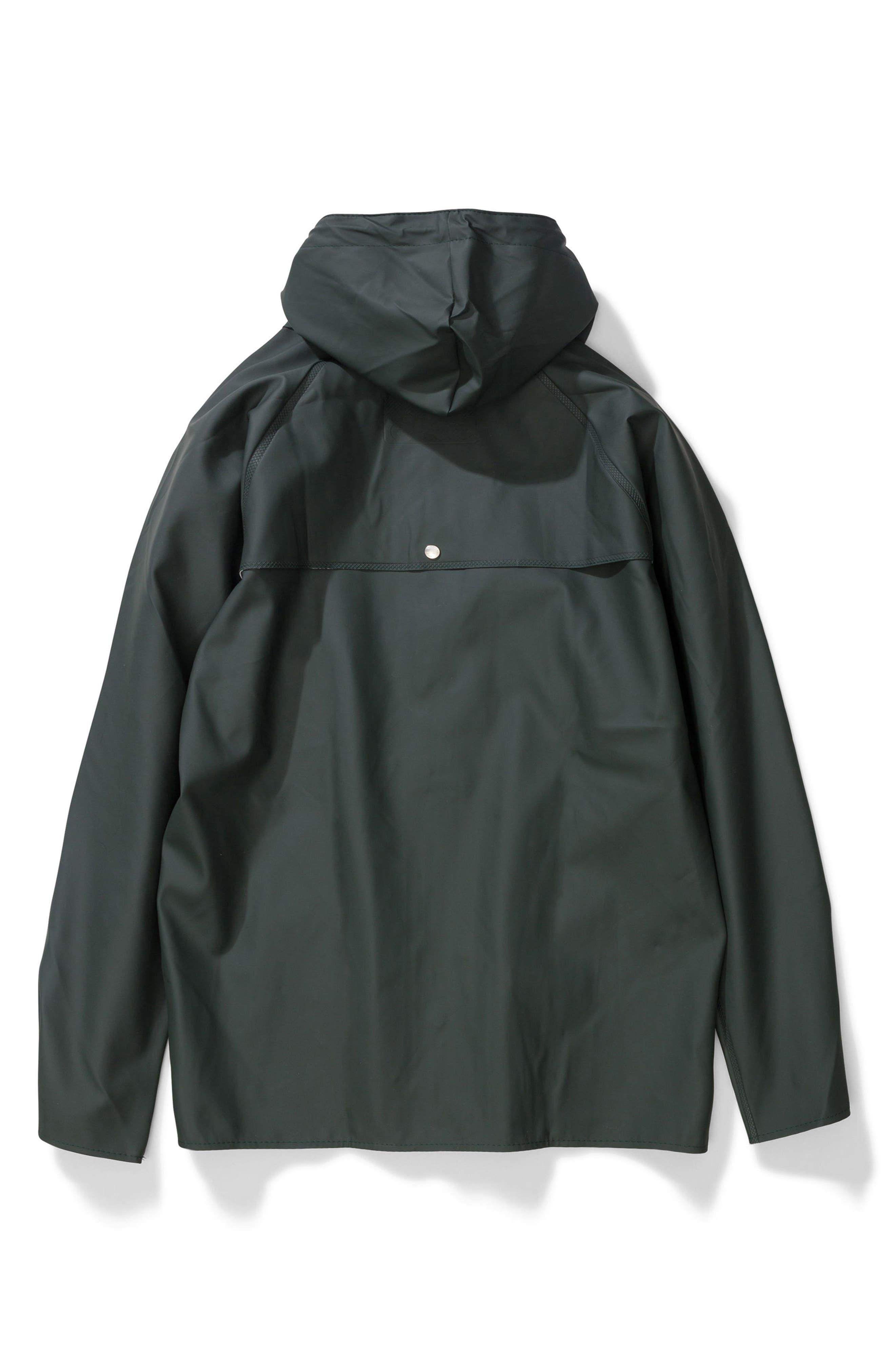 Waterproof Rain Jacket,                             Alternate thumbnail 13, color,                             Moss