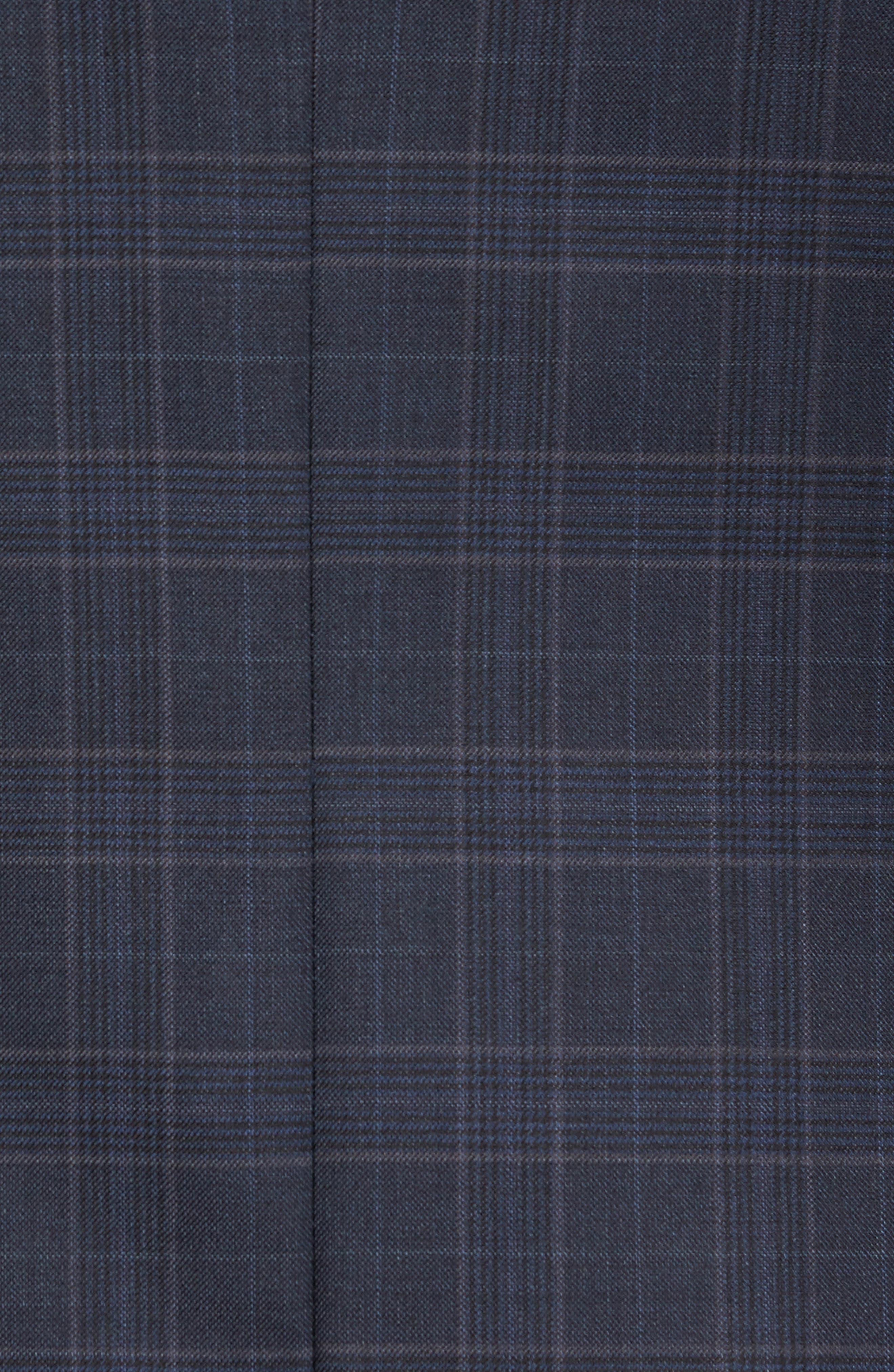 Flynn Classic Fit Plaid Wool Sport Coat,                             Alternate thumbnail 5, color,                             Navy