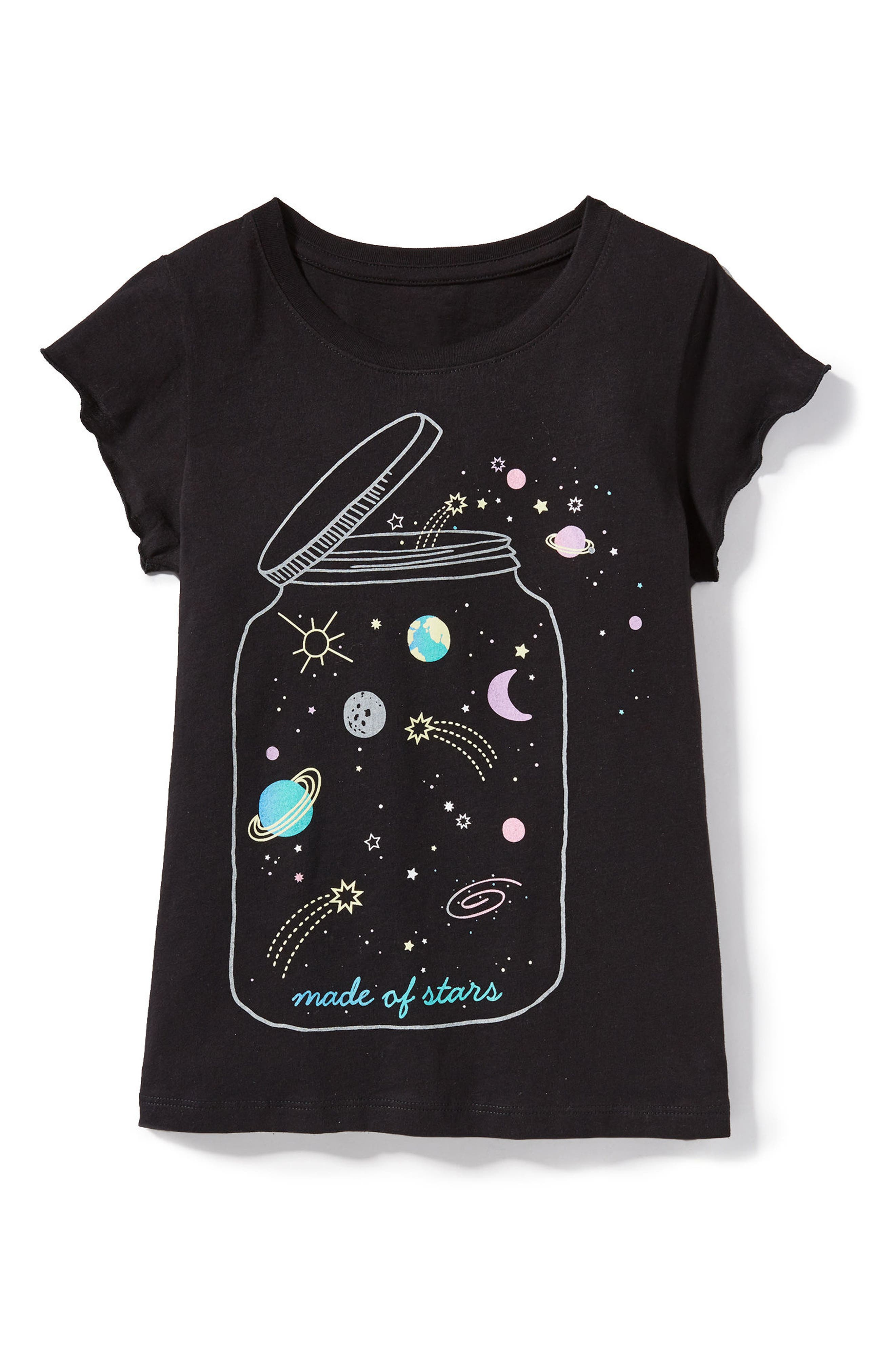 Made of Stars Tee,                         Main,                         color, Black